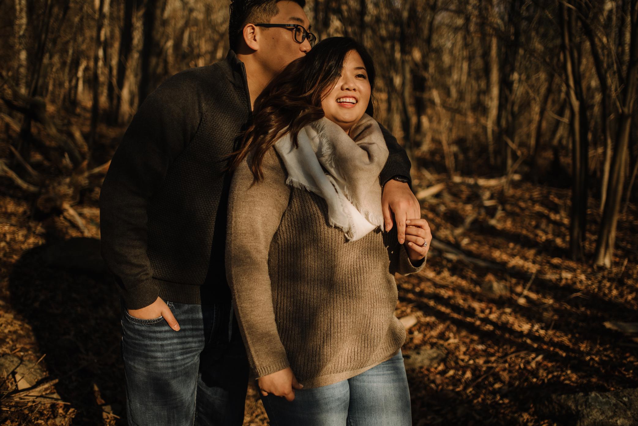 Joshua and Kristina - Shenandoah National Park - Skyline Drive - Winter Engagement Session Photographer - White Sails Creative_13.JPG