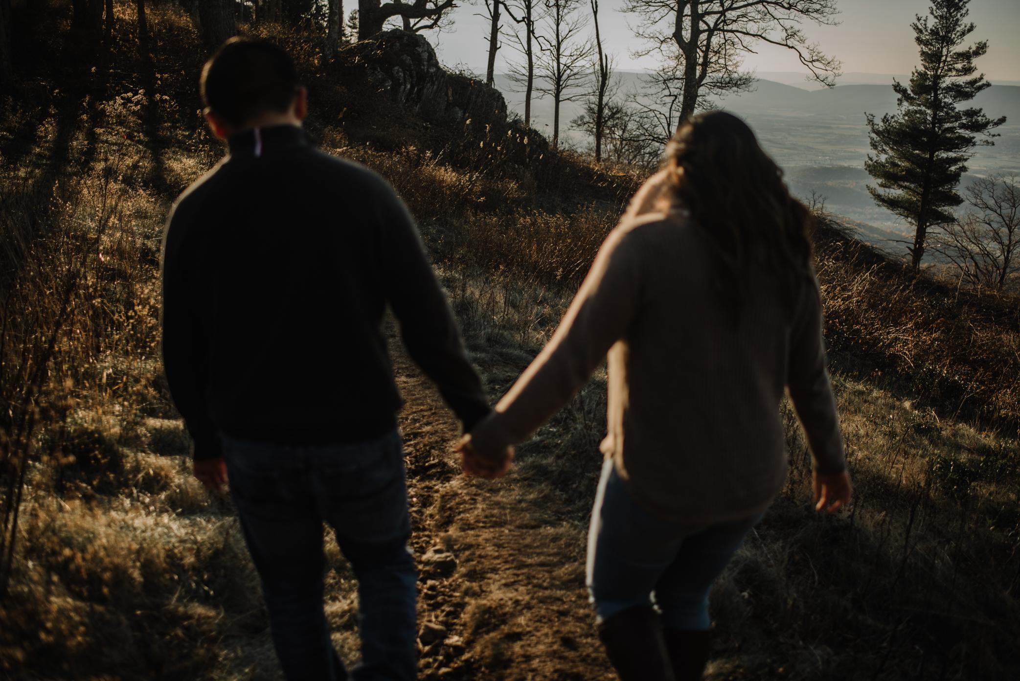 Joshua and Kristina - Shenandoah National Park - Skyline Drive - Winter Engagement Session Photographer - White Sails Creative_17.JPG