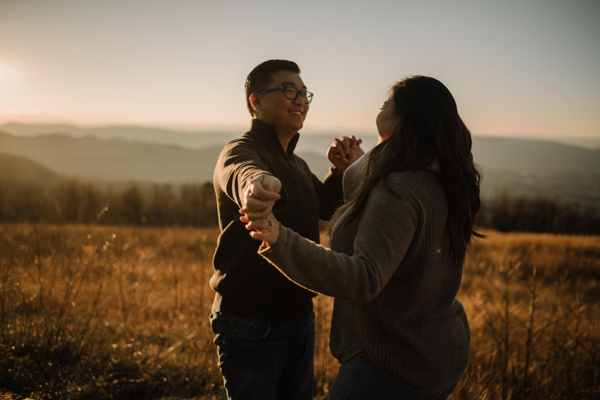 Joshua and Kristina - Shenandoah National Park - Skyline Drive - Winter Engagement Session Photographer - White Sails Creative_25.JPG