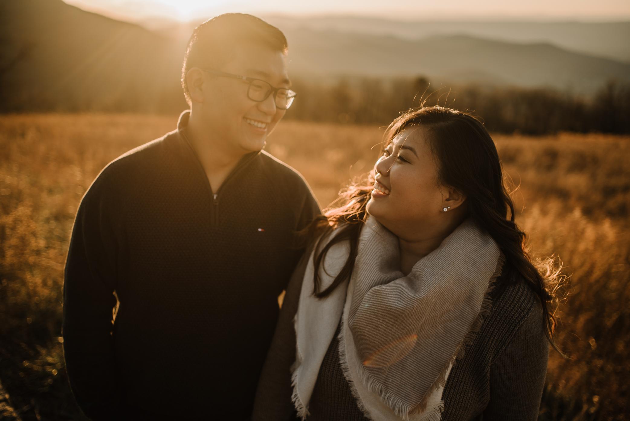Joshua and Kristina - Shenandoah National Park - Skyline Drive - Winter Engagement Session Photographer - White Sails Creative_33.JPG