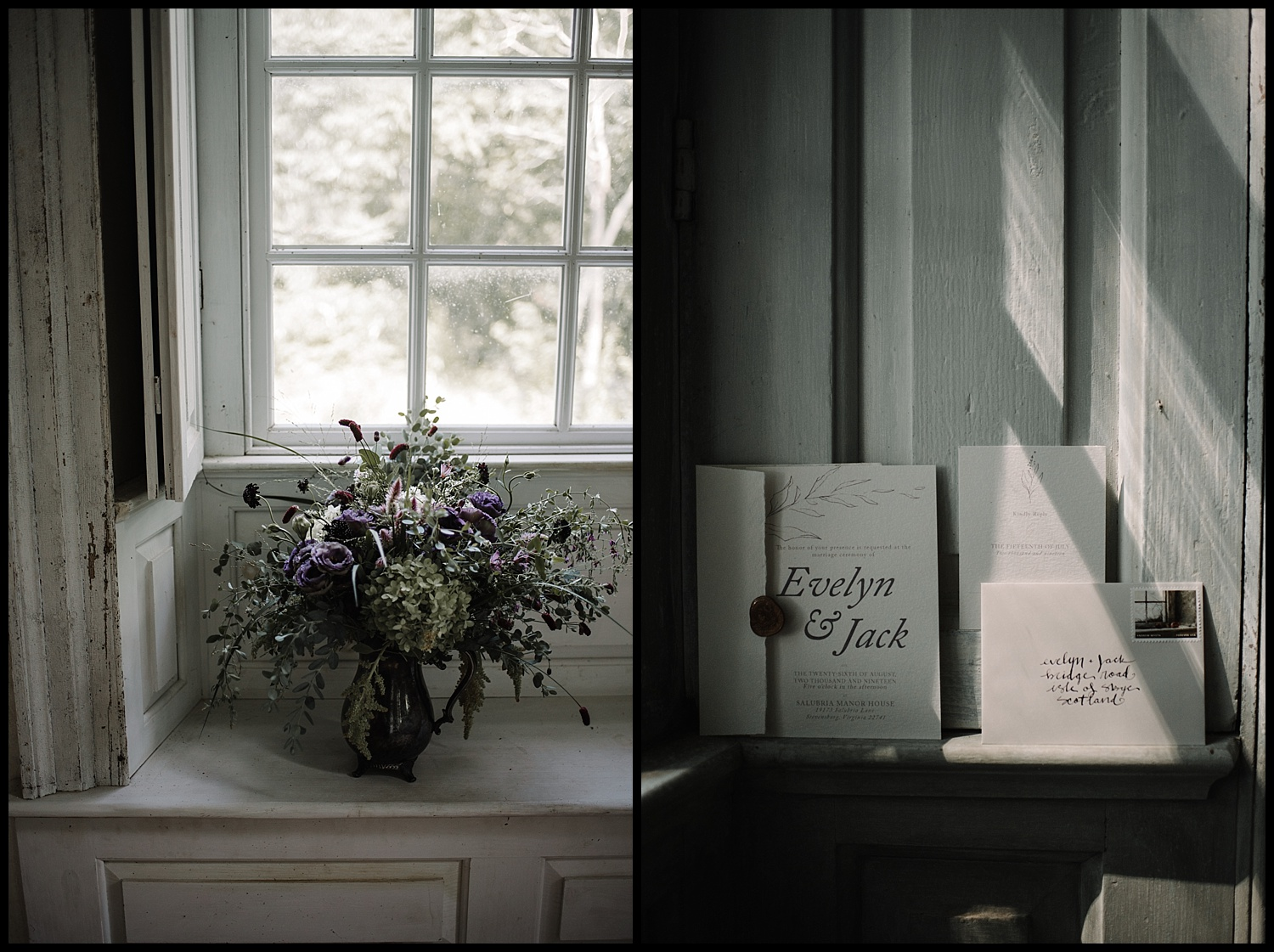 Salubria Historic Manor House Virginia - Moody Scottish Highland Wedding Styled Shoot - White Sails Creative - Sage and Silhouettes - BHLDN - Bijous Sweet Treats_16.jpg