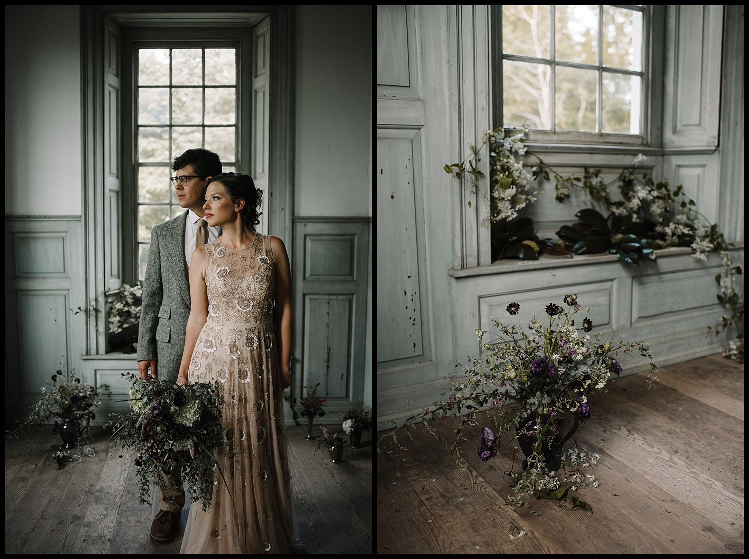 Salubria Historic Manor House Virginia - Moody Scottish Highland Wedding Styled Shoot - White Sails Creative - Sage and Silhouettes - BHLDN - Bijous Sweet Treats_120.jpg