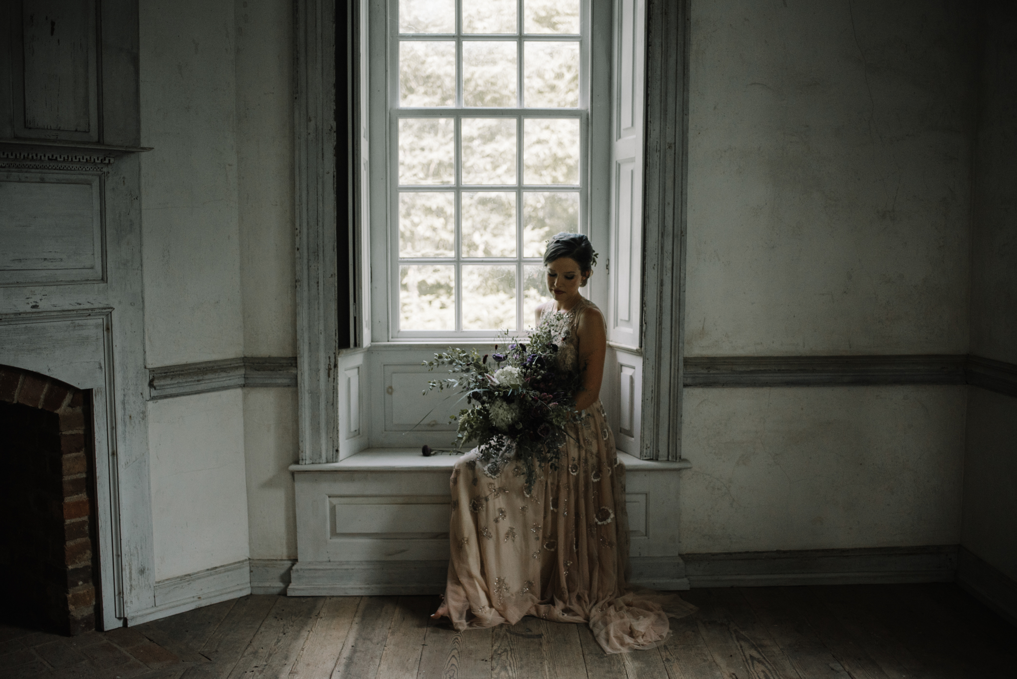 Salubria Historic Manor House Virginia - Moody Scottish Highland Wedding Styled Shoot - White Sails Creative - Sage and Silhouettes - BHLDN - Bijous Sweet Treats_86.JPG