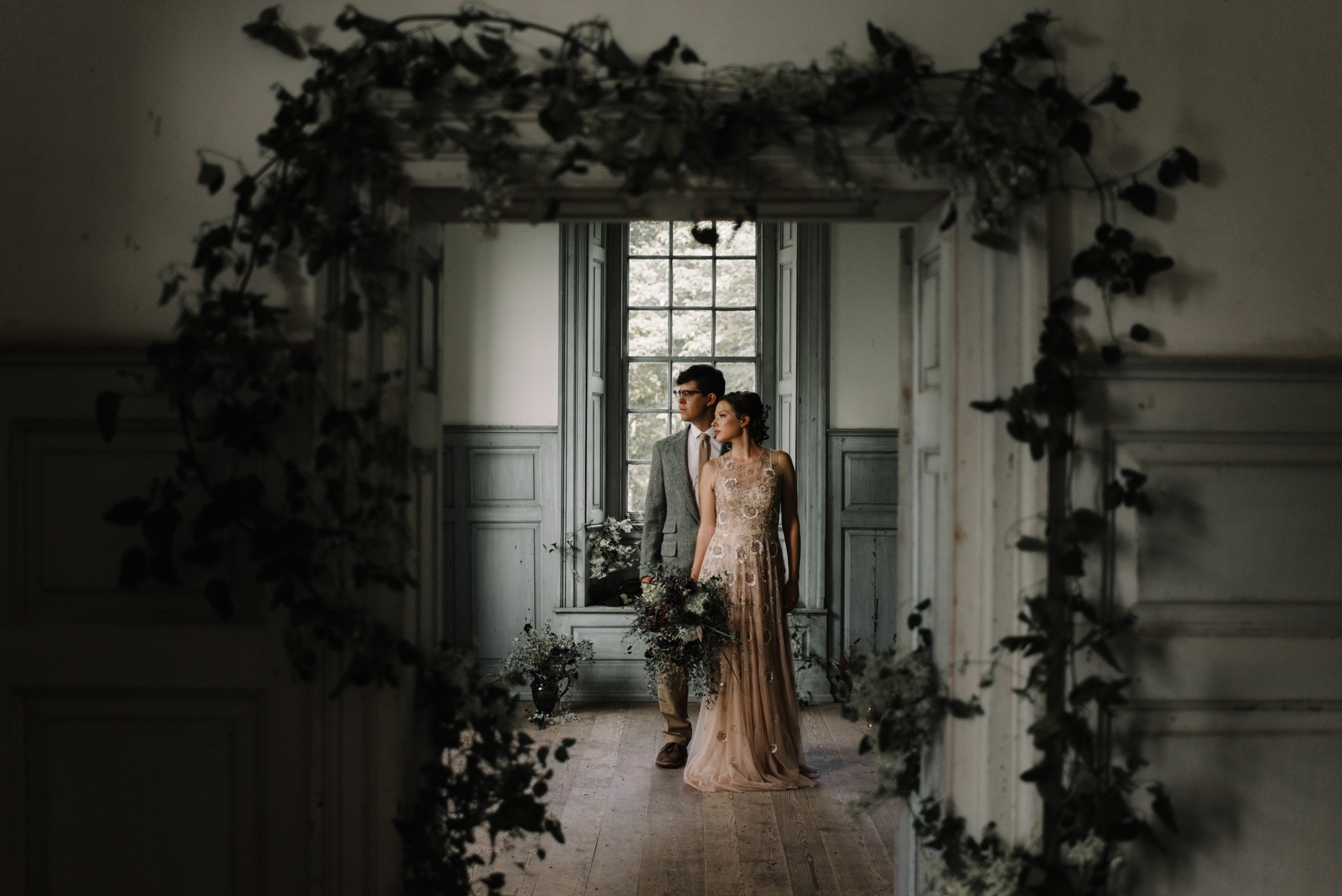 Salubria Historic Manor House Virginia - Moody Scottish Highland Wedding Styled Shoot - White Sails Creative - Sage and Silhouettes - BHLDN - Bijous Sweet Treats_119.JPG