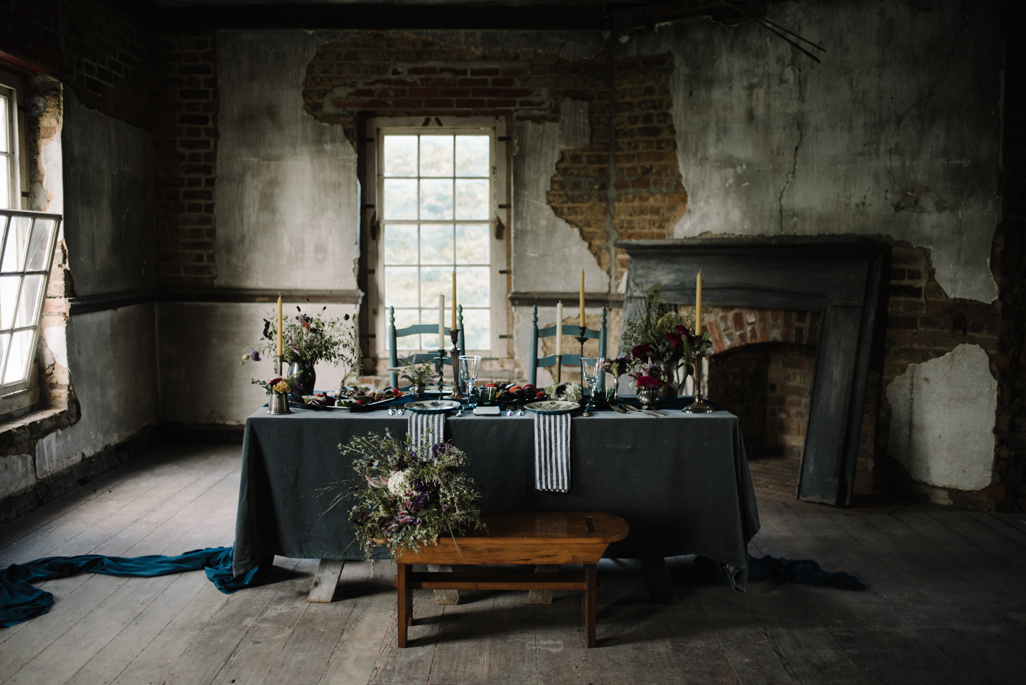 Salubria Historic Manor House Virginia - Moody Scottish Highland Wedding Styled Shoot - White Sails Creative - Sage and Silhouettes - BHLDN - Bijous Sweet Treats_161.JPG