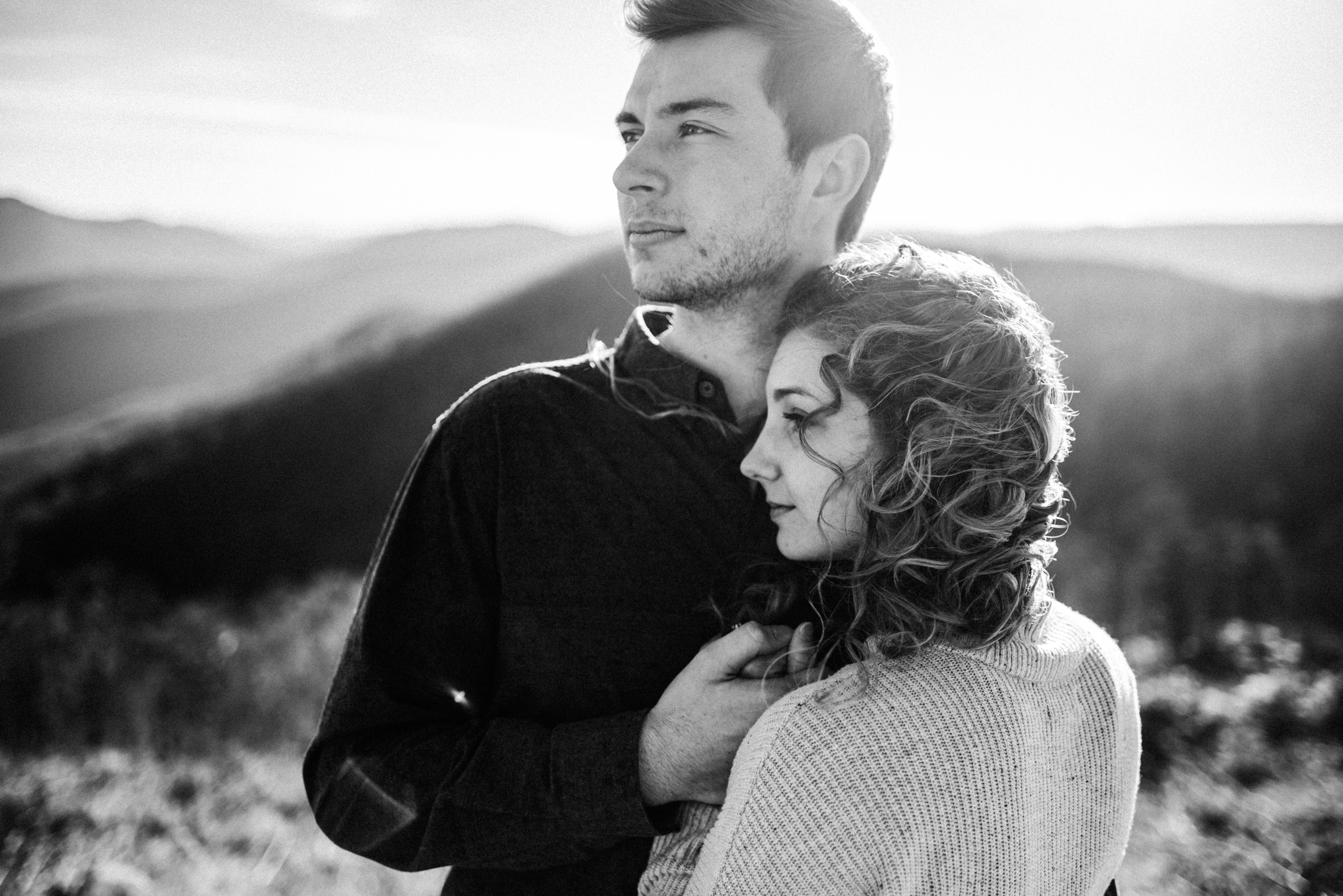 Alli and Mitchell - Shenandoah National Park Adventure Winter Engagement Session on Skyline Drive - White Sails Creative Elopement Photography_4.JPG