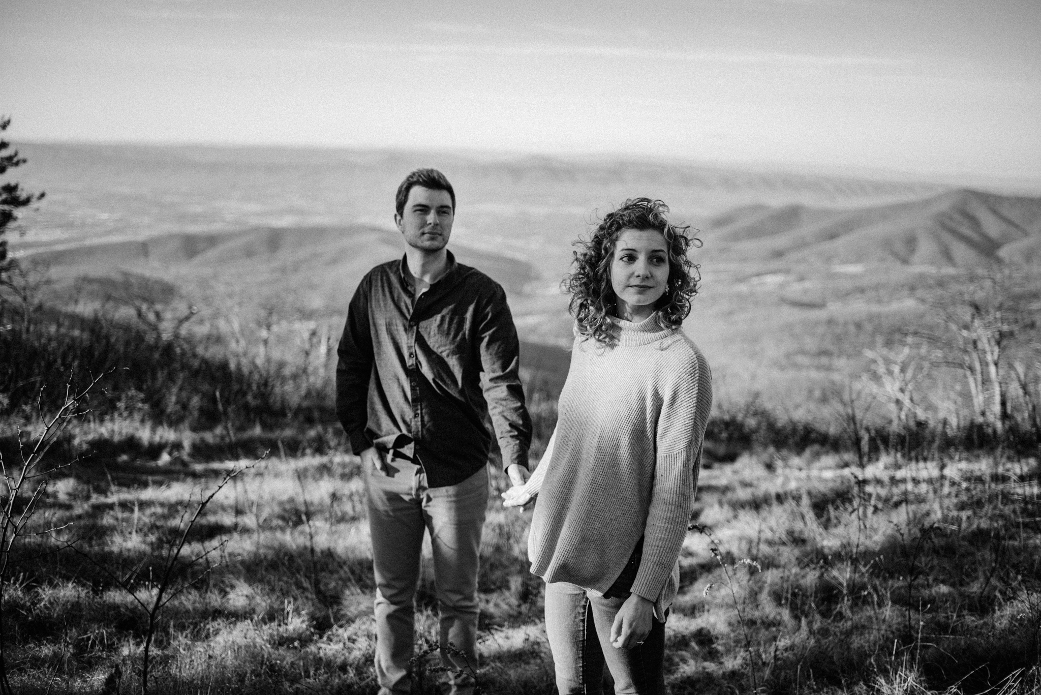 Alli and Mitchell - Shenandoah National Park Adventure Winter Engagement Session on Skyline Drive - White Sails Creative Elopement Photography_8.JPG