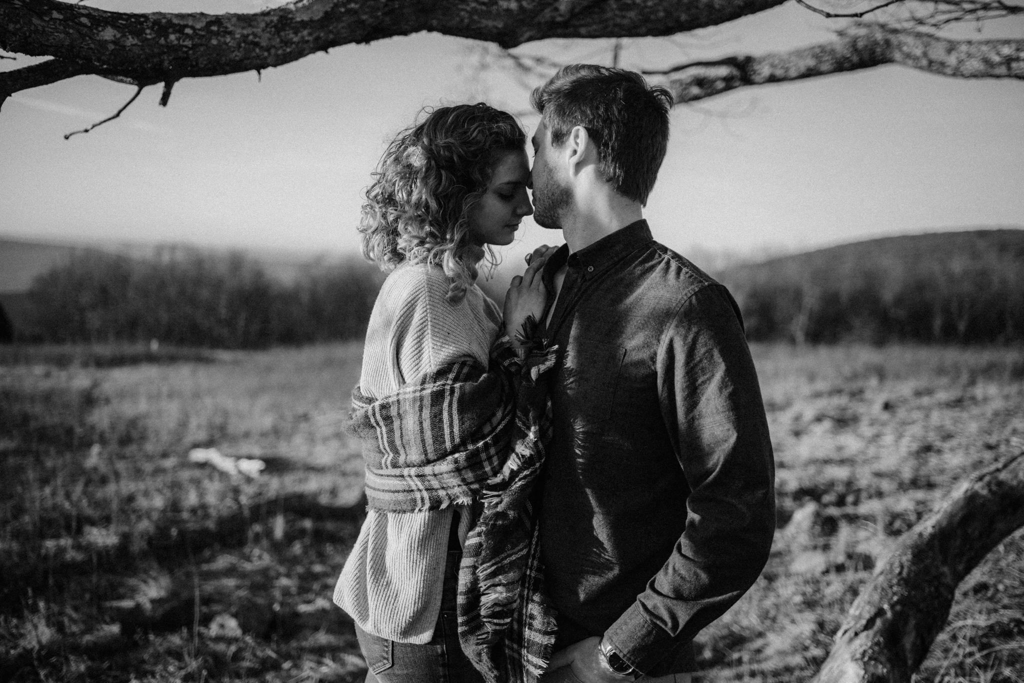 Alli and Mitchell - Shenandoah National Park Adventure Winter Engagement Session on Skyline Drive - White Sails Creative Elopement Photography_16.JPG
