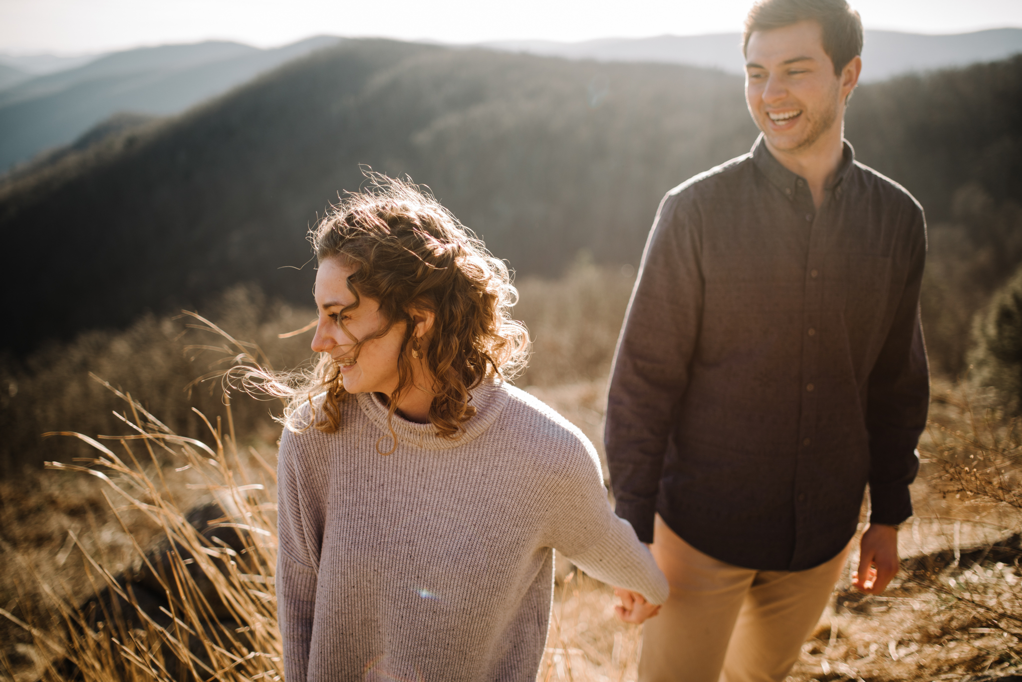 Alli and Mitchell - Shenandoah National Park Adventure Winter Engagement Session on Skyline Drive - White Sails Creative Elopement Photography_23.JPG