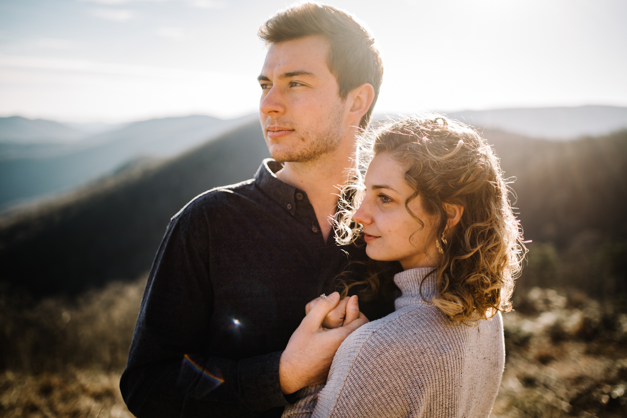 Alli and Mitchell - Shenandoah National Park Adventure Winter Engagement Session on Skyline Drive - White Sails Creative Elopement Photography_27.JPG