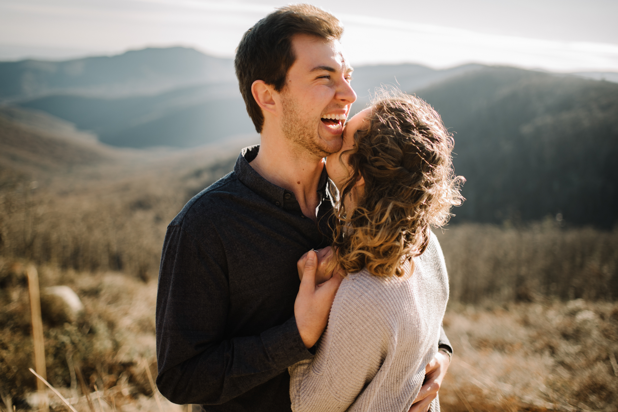 Alli and Mitchell - Shenandoah National Park Adventure Winter Engagement Session on Skyline Drive - White Sails Creative Elopement Photography_26.JPG