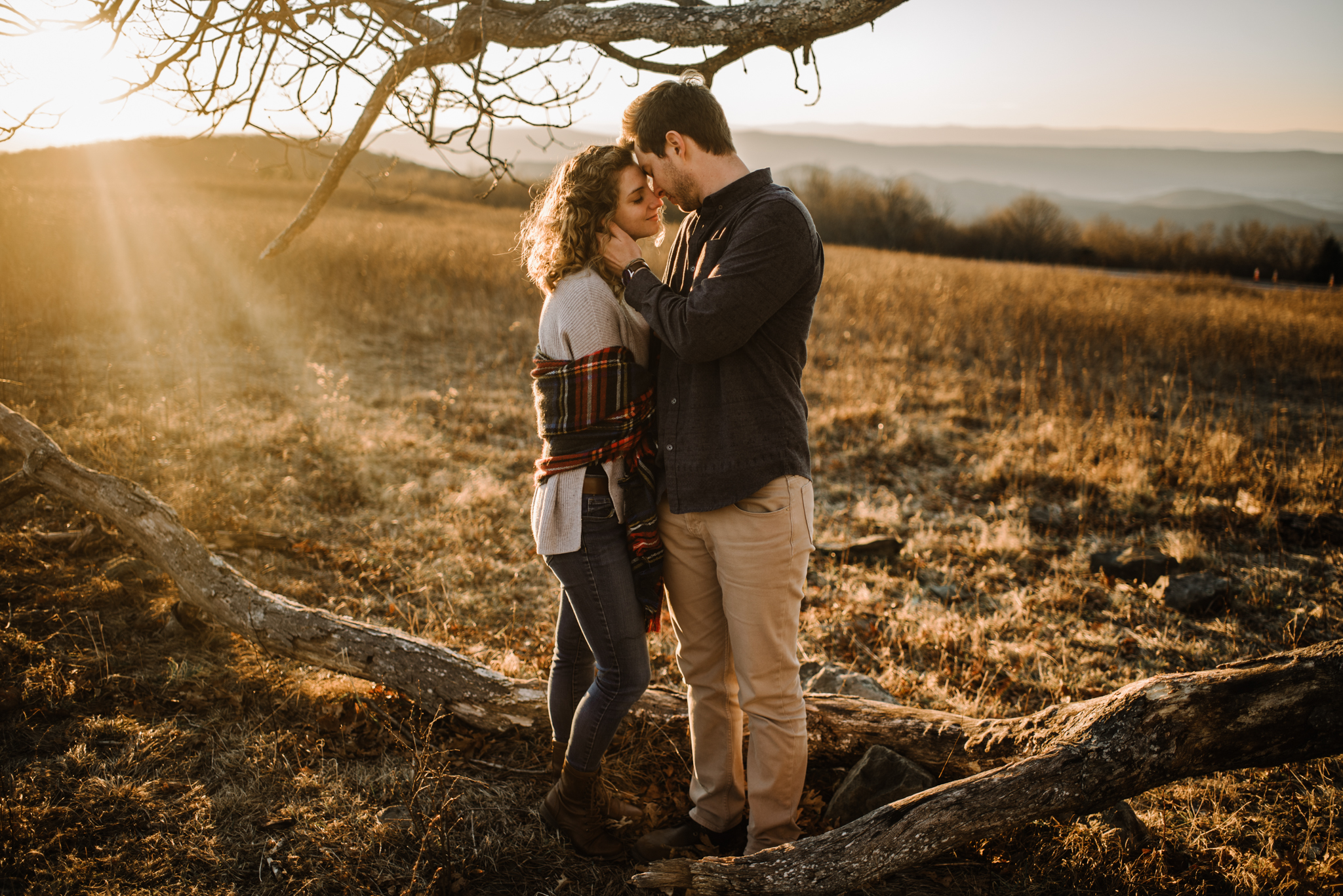 Alli and Mitchell - Shenandoah National Park Adventure Winter Engagement Session on Skyline Drive - White Sails Creative Elopement Photography_49.JPG