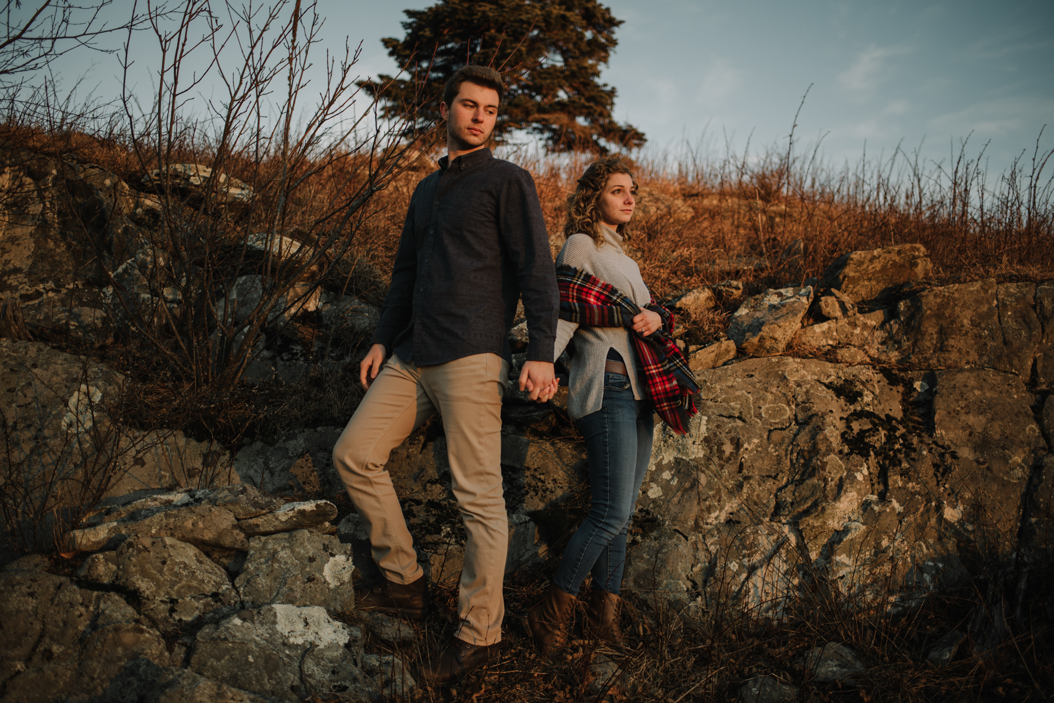 Alli and Mitchell - Shenandoah National Park Adventure Winter Engagement Session on Skyline Drive - White Sails Creative Elopement Photography_52.JPG