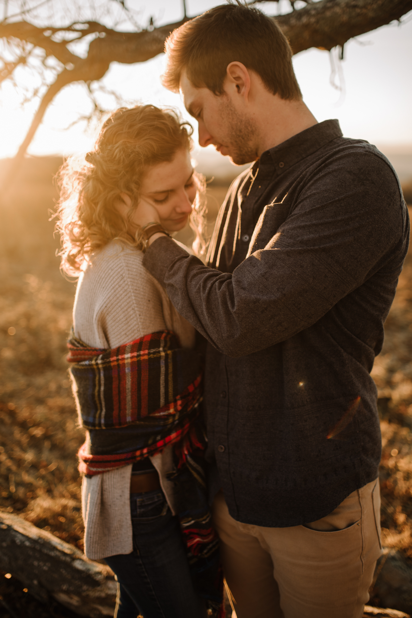 Alli and Mitchell - Shenandoah National Park Adventure Winter Engagement Session on Skyline Drive - White Sails Creative Elopement Photography_51.JPG