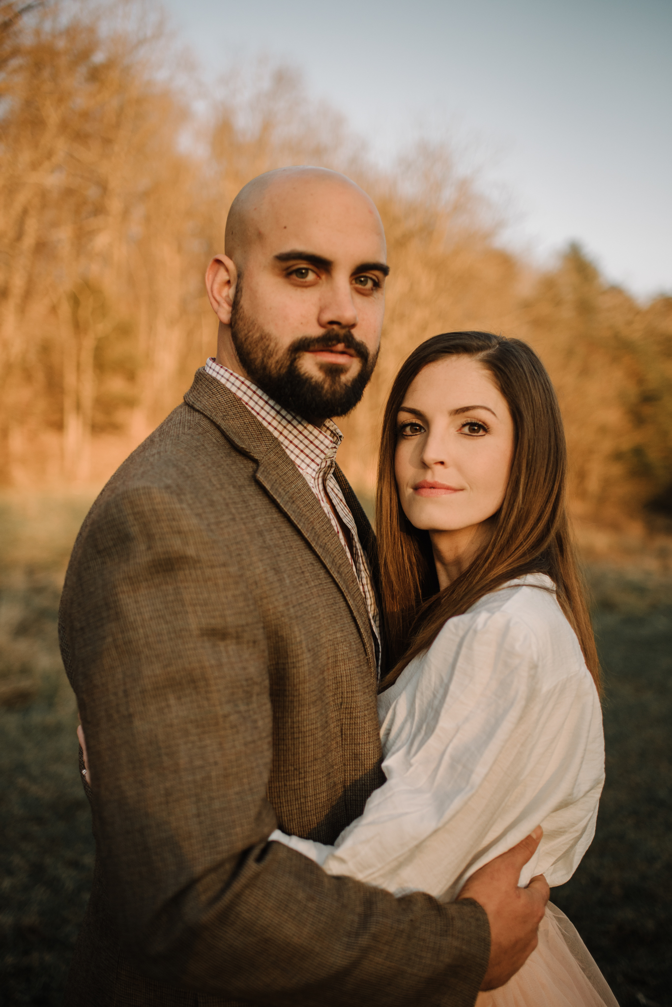 Emily and Hoyle - Shenandoah Valley Engagement Session - Winter Sunset - Downtown Old Movie Theater - Back yard Virginia Farm Wedding_19.JPG