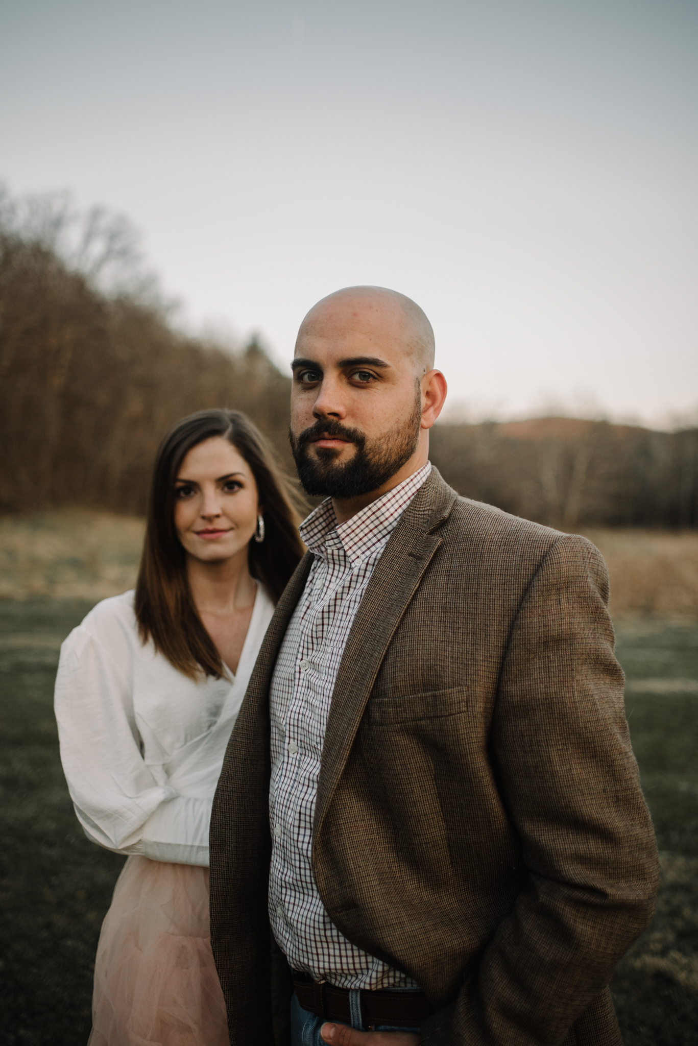 Emily and Hoyle - Shenandoah Valley Engagement Session - Winter Sunset - Downtown Old Movie Theater - Back yard Virginia Farm Wedding_38.JPG