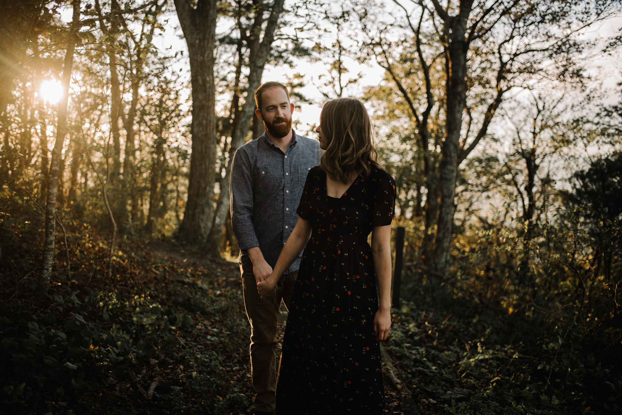 Molly and Zach Engagement Session - Fall Autumn Sunset Couple Adventure Session - Shenandoah National Park - Blue Ridge Parkway Skyline Drive - White Sails Creative_26.JPG
