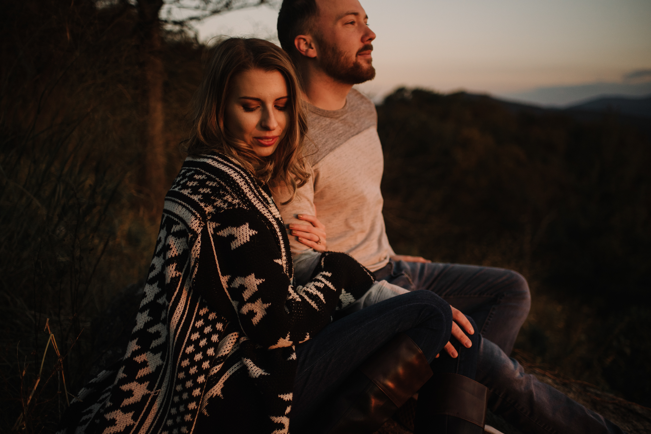 Macy and Mark - Shenandoah National Park - Fall Autumn Sunrise Couple Adventure Session - White Sails Creative - Mini Session_9.JPG