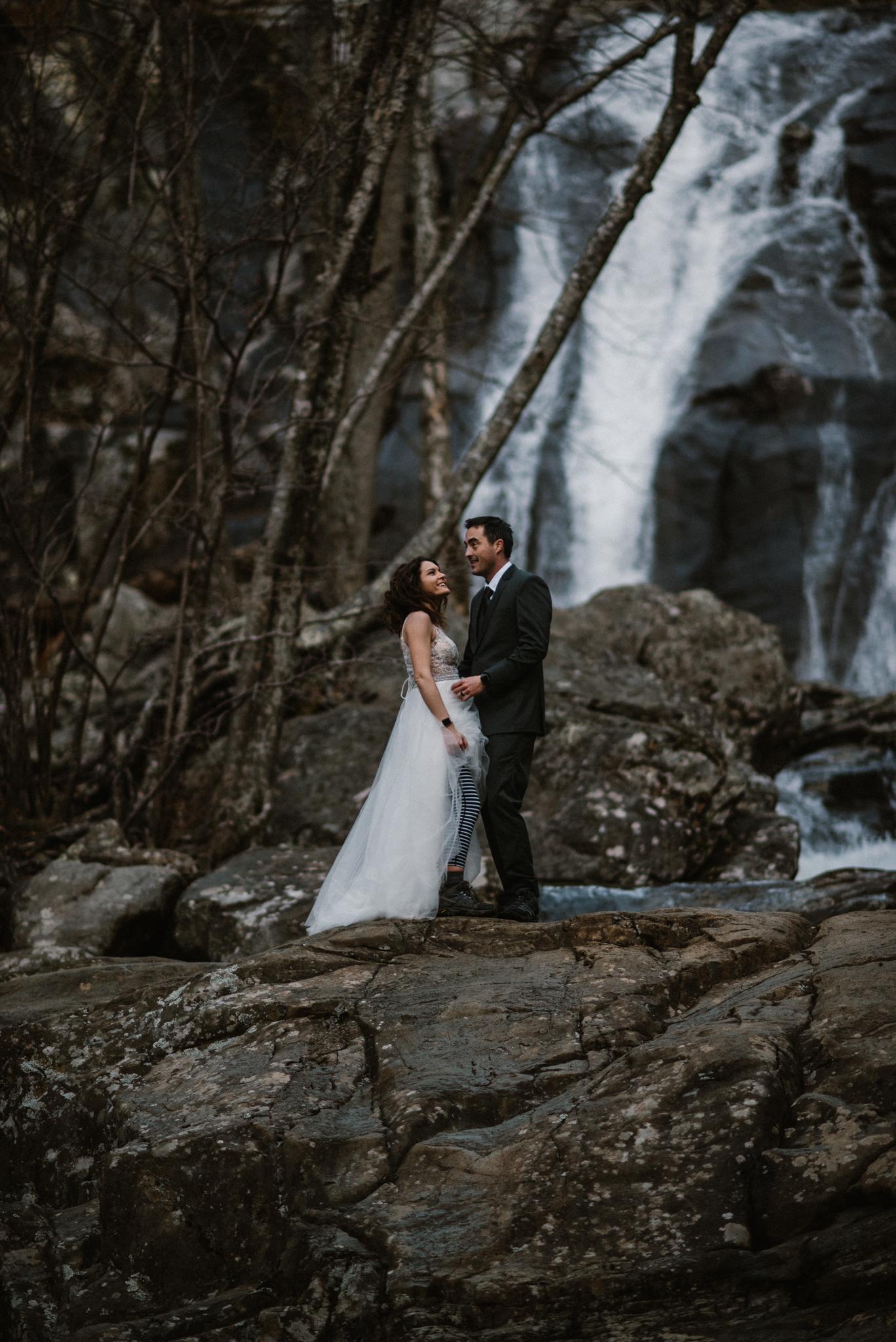 Stephanie and Steve - Shenandoah National Park Elopement - Sunrise Hiking Elopement - Adventurous Elopement - Virginia Elopement Photographer - Shenandoah national Park Wedding Photographer - White Sails Creative_11.jpg
