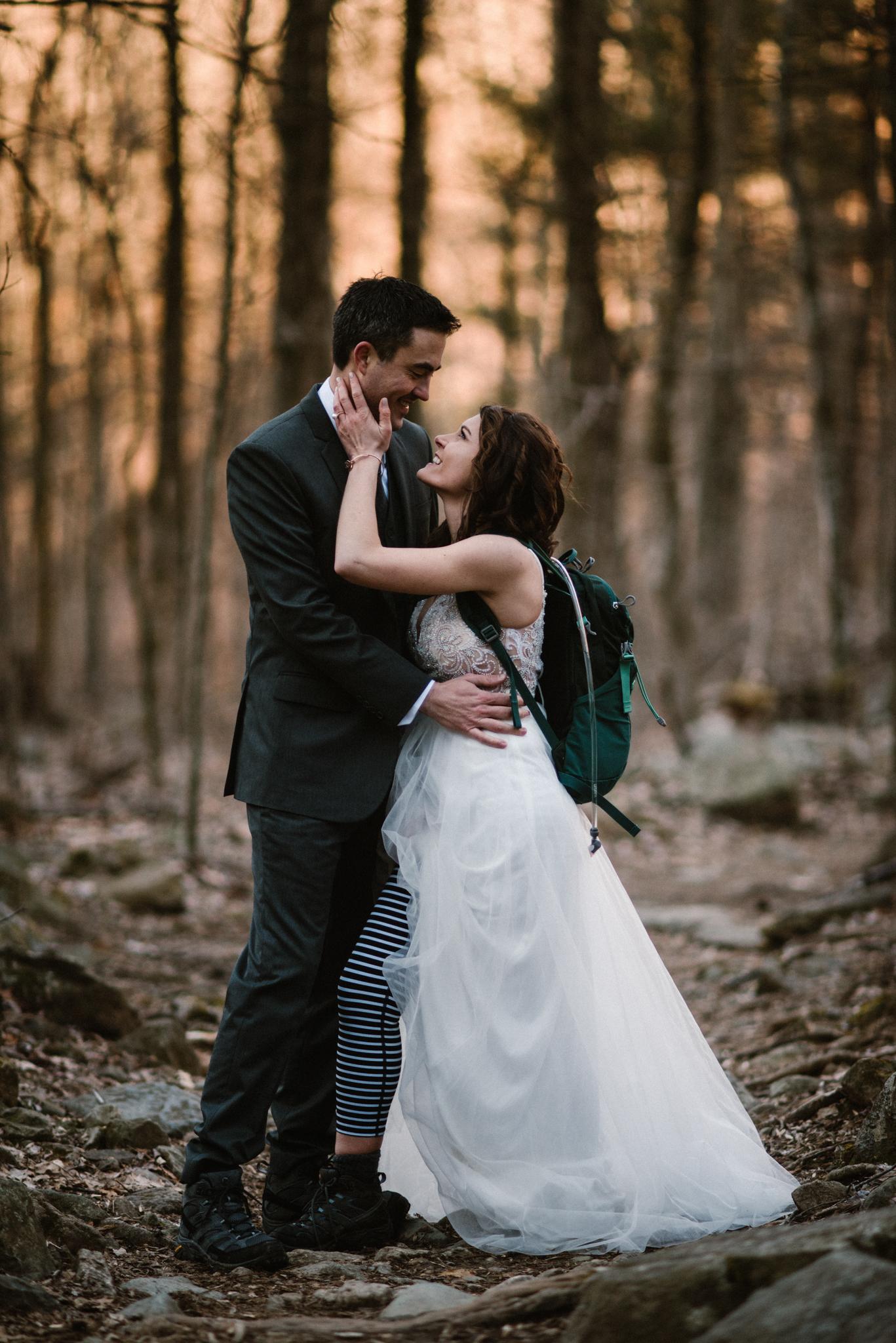 Stephanie and Steve - Shenandoah National Park Elopement - Sunrise Hiking Elopement - Adventurous Elopement - Virginia Elopement Photographer - Shenandoah national Park Wedding Photographer - White Sails Creative_42.jpg