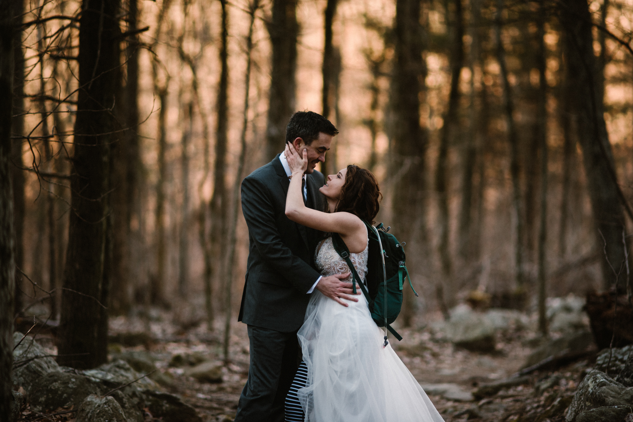 Stephanie and Steve - Shenandoah National Park Elopement - Sunrise Hiking Elopement - Adventurous Elopement - Virginia Elopement Photographer - Shenandoah national Park Wedding Photographer - White Sails Creative_43.jpg