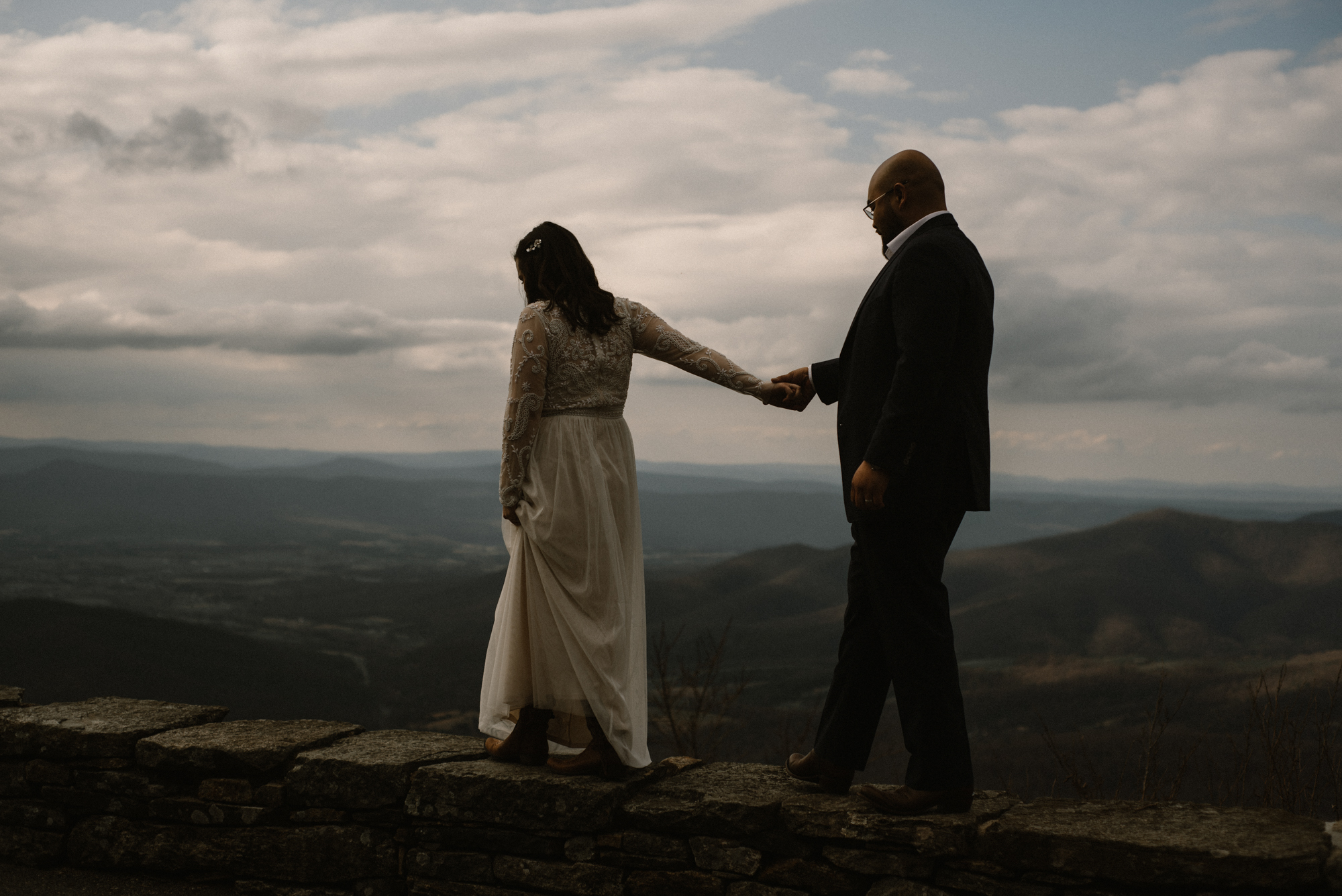 Emma and Jeddah - Intimate Luray Wedding - Shenandoah National Park Wedding - Adventure Elopement in Virginia - Shenandoah National Park Elopement_61.jpg