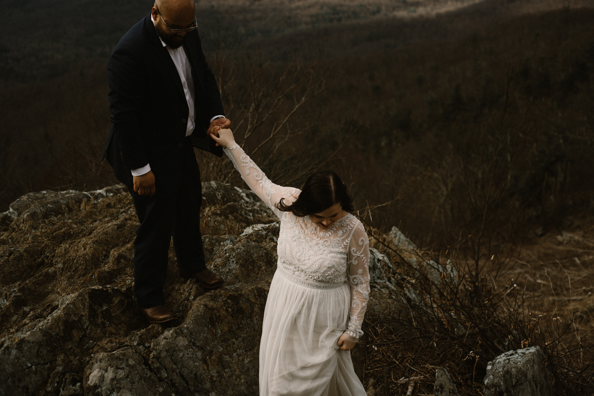 Emma and Jeddah - Intimate Luray Wedding - Shenandoah National Park Wedding - Adventure Elopement in Virginia - Shenandoah National Park Elopement_60.jpg