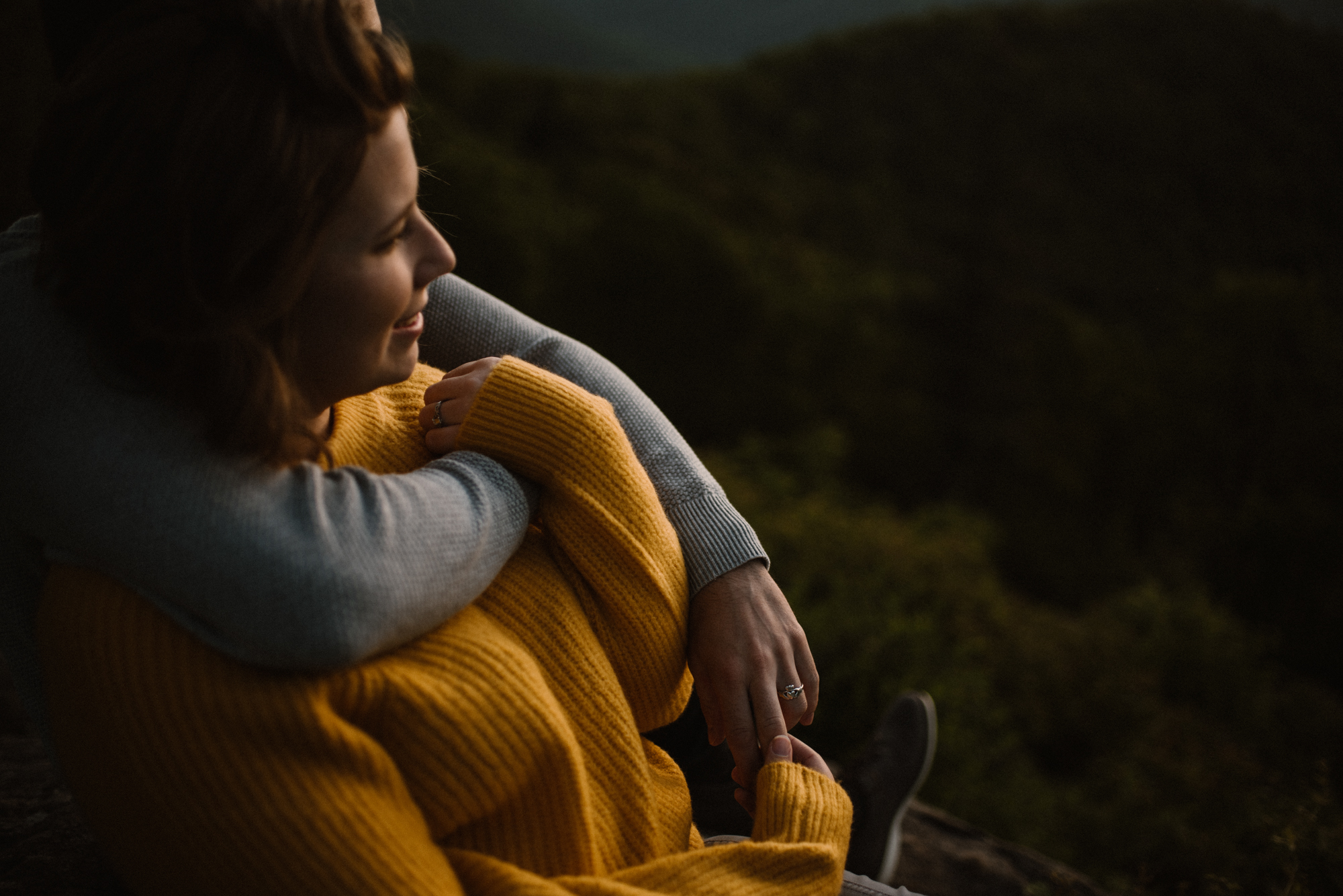 Sloane and Evan Sunrise Engagement Session in Shenandoah National Park - Things to Do in Luray Virginia - Adventurous Couple Photo Shoot White Sails Creative_10.jpg