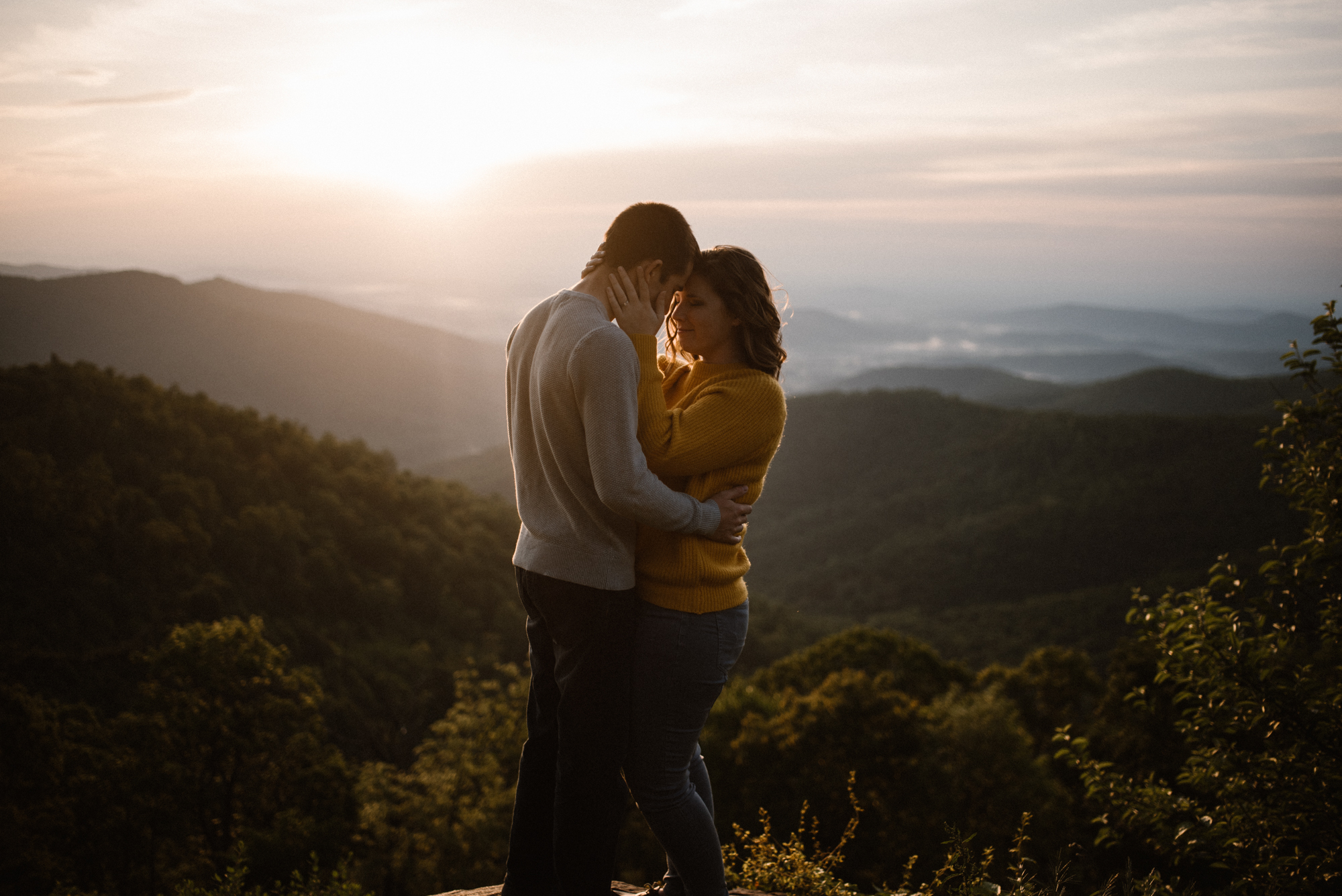 Sloane and Evan Sunrise Engagement Session in Shenandoah National Park - Things to Do in Luray Virginia - Adventurous Couple Photo Shoot White Sails Creative_13.jpg