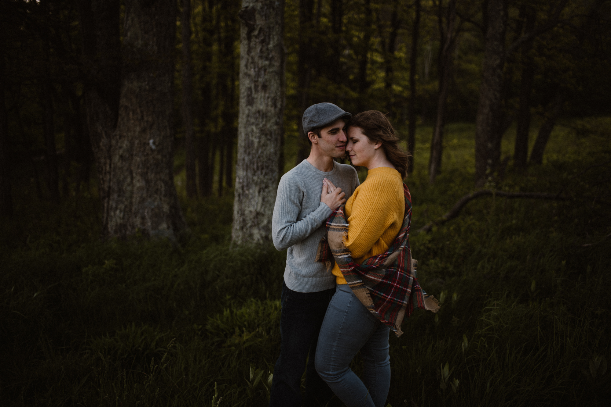 Sloane and Evan Sunrise Engagement Session in Shenandoah National Park - Things to Do in Luray Virginia - Adventurous Couple Photo Shoot White Sails Creative_18.jpg