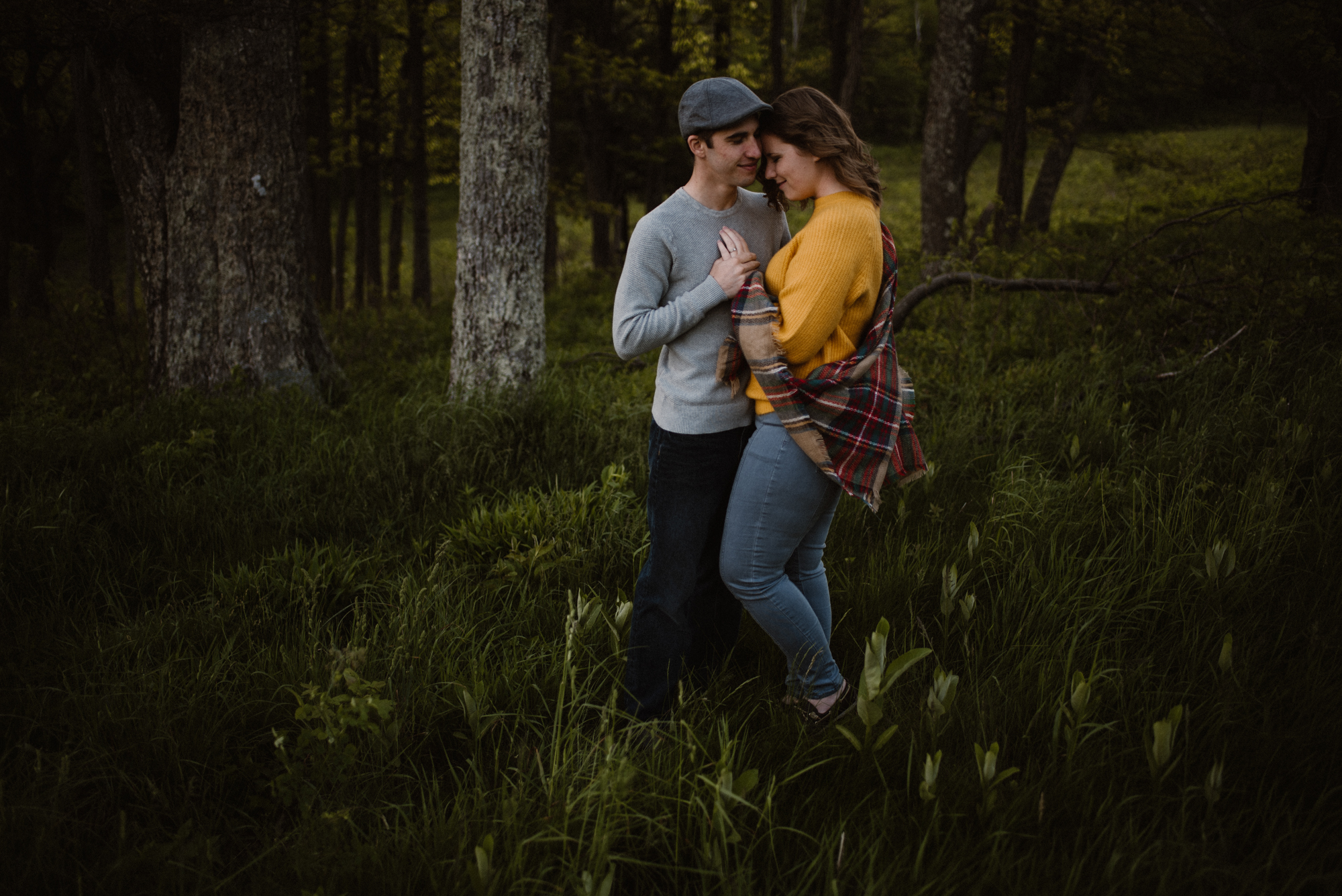 Sloane and Evan Sunrise Engagement Session in Shenandoah National Park - Things to Do in Luray Virginia - Adventurous Couple Photo Shoot White Sails Creative_21.jpg