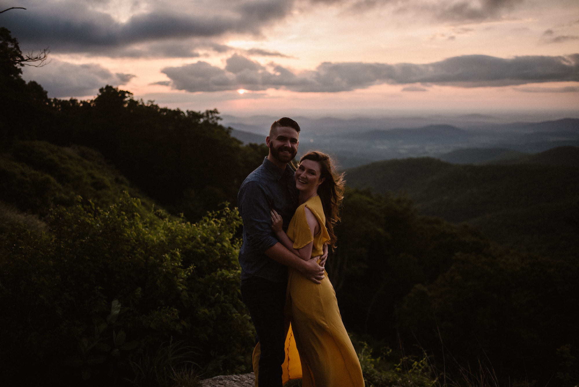 Camryn and Larry Sunrise Engagement Session in Shenandoah National Park - Things to Do in Luray Virginia - Adventurous Couple Photo Shoot White Sails Creative_1.jpg