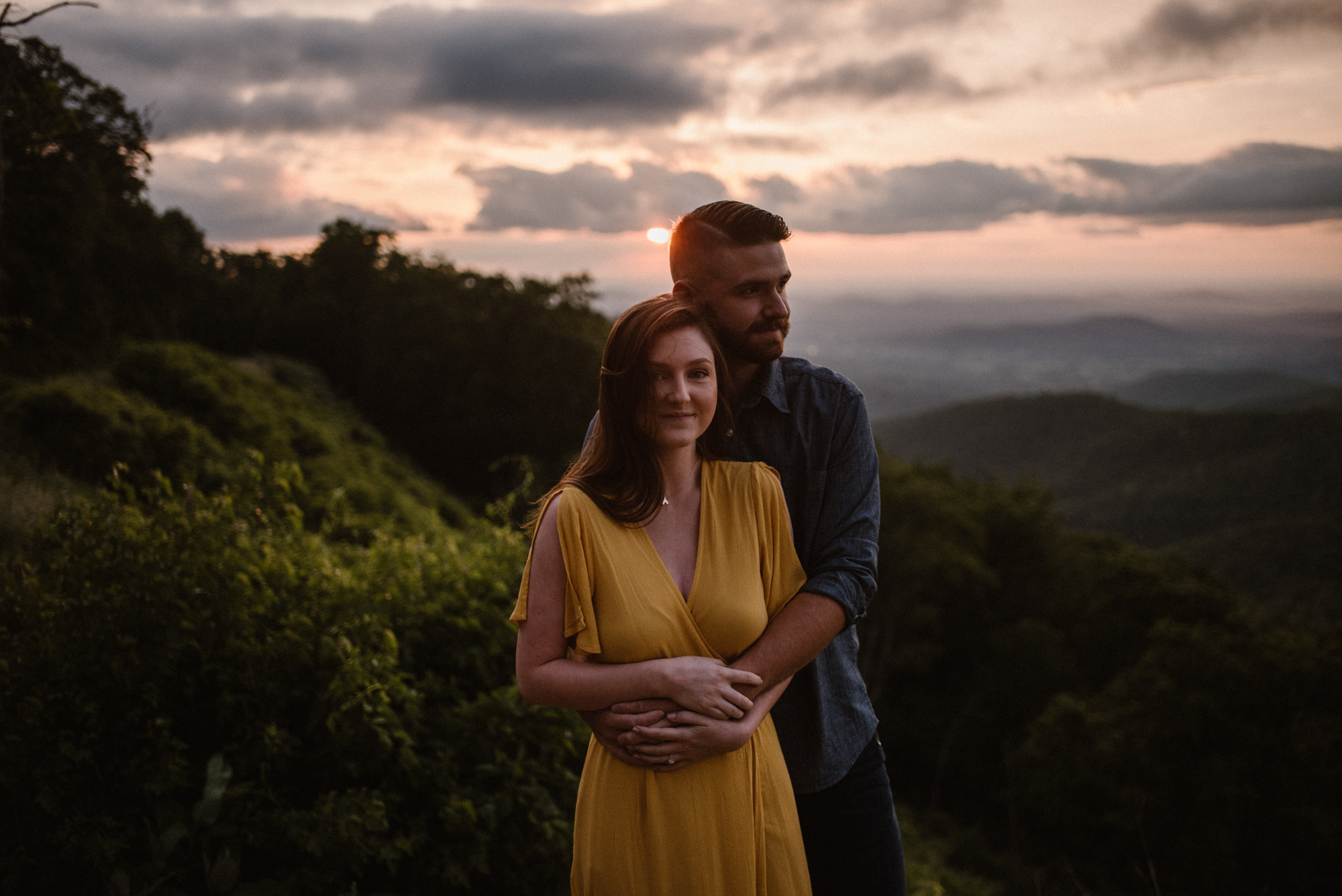 Camryn and Larry Sunrise Engagement Session in Shenandoah National Park - Things to Do in Luray Virginia - Adventurous Couple Photo Shoot White Sails Creative_2.jpg