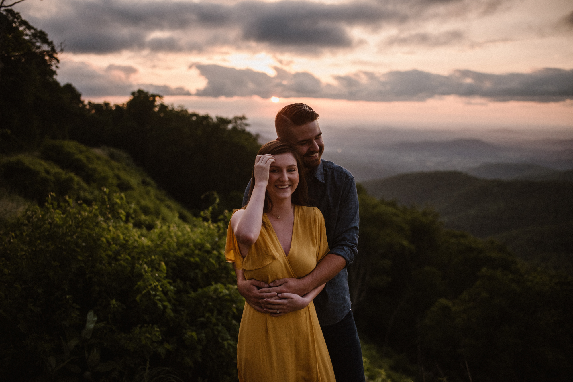 Camryn and Larry Sunrise Engagement Session in Shenandoah National Park - Things to Do in Luray Virginia - Adventurous Couple Photo Shoot White Sails Creative_3.jpg