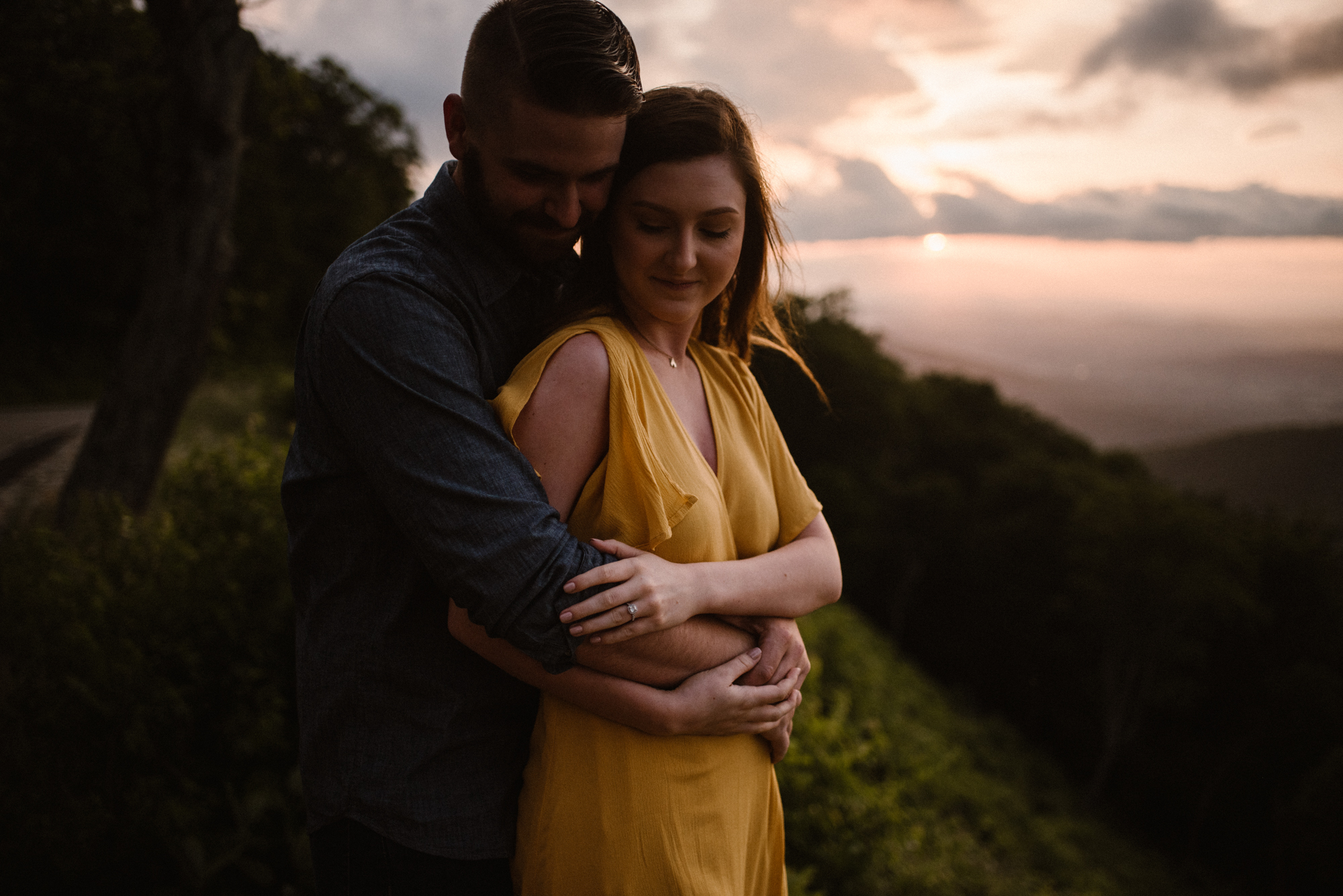Camryn and Larry Sunrise Engagement Session in Shenandoah National Park - Things to Do in Luray Virginia - Adventurous Couple Photo Shoot White Sails Creative_5.jpg
