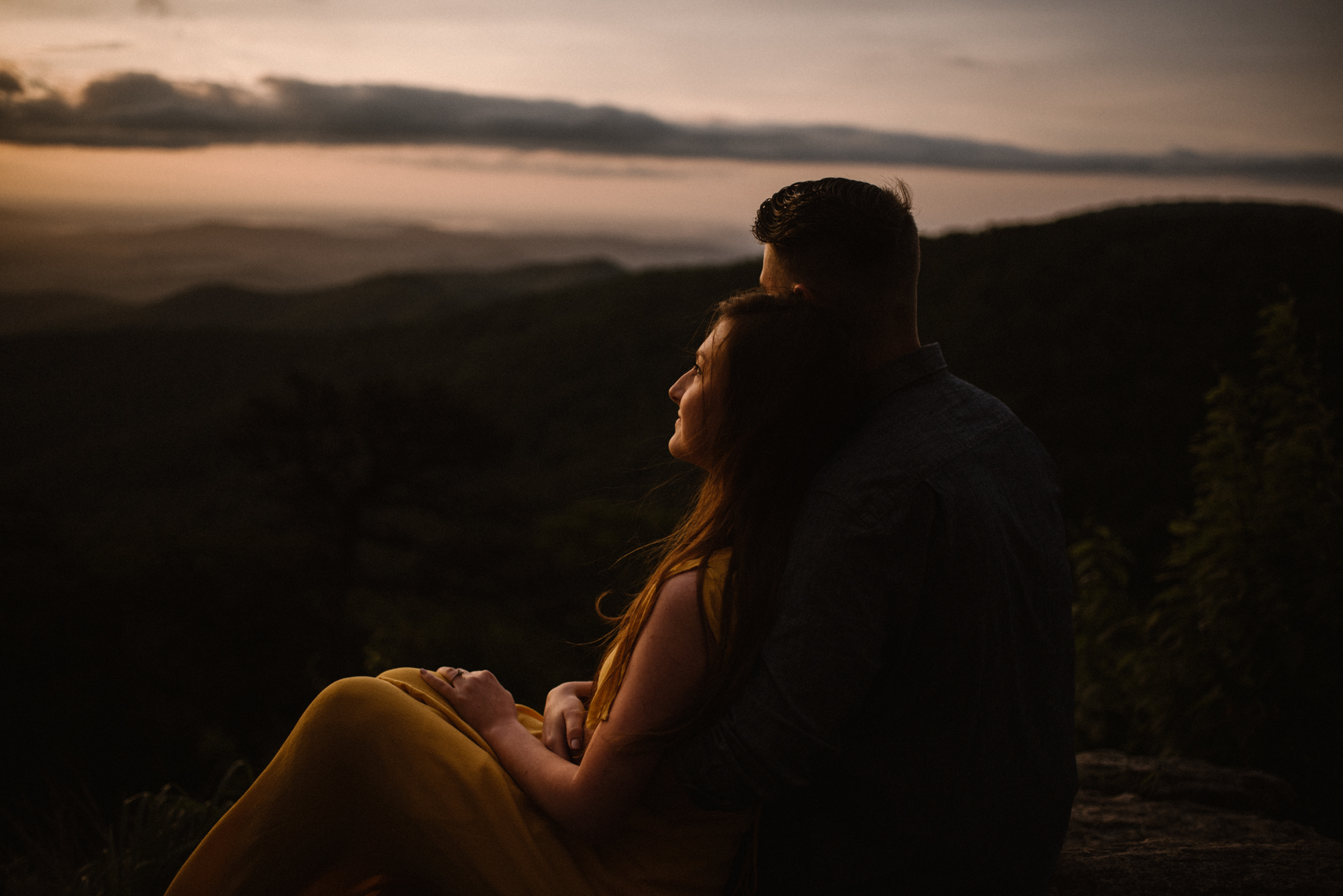 Camryn and Larry Sunrise Engagement Session in Shenandoah National Park - Things to Do in Luray Virginia - Adventurous Couple Photo Shoot White Sails Creative_8.jpg