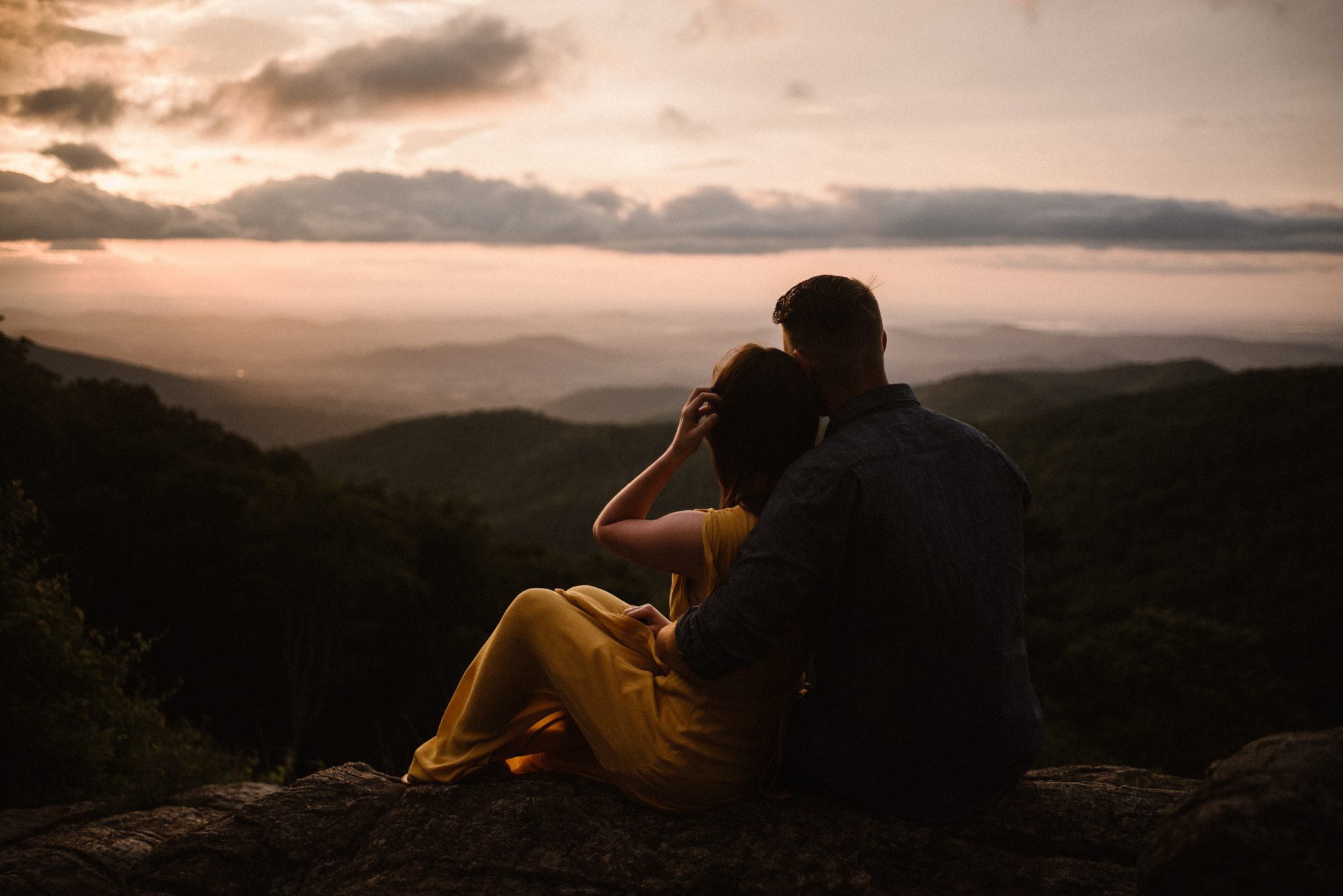 Camryn and Larry Sunrise Engagement Session in Shenandoah National Park - Things to Do in Luray Virginia - Adventurous Couple Photo Shoot White Sails Creative_7.jpg