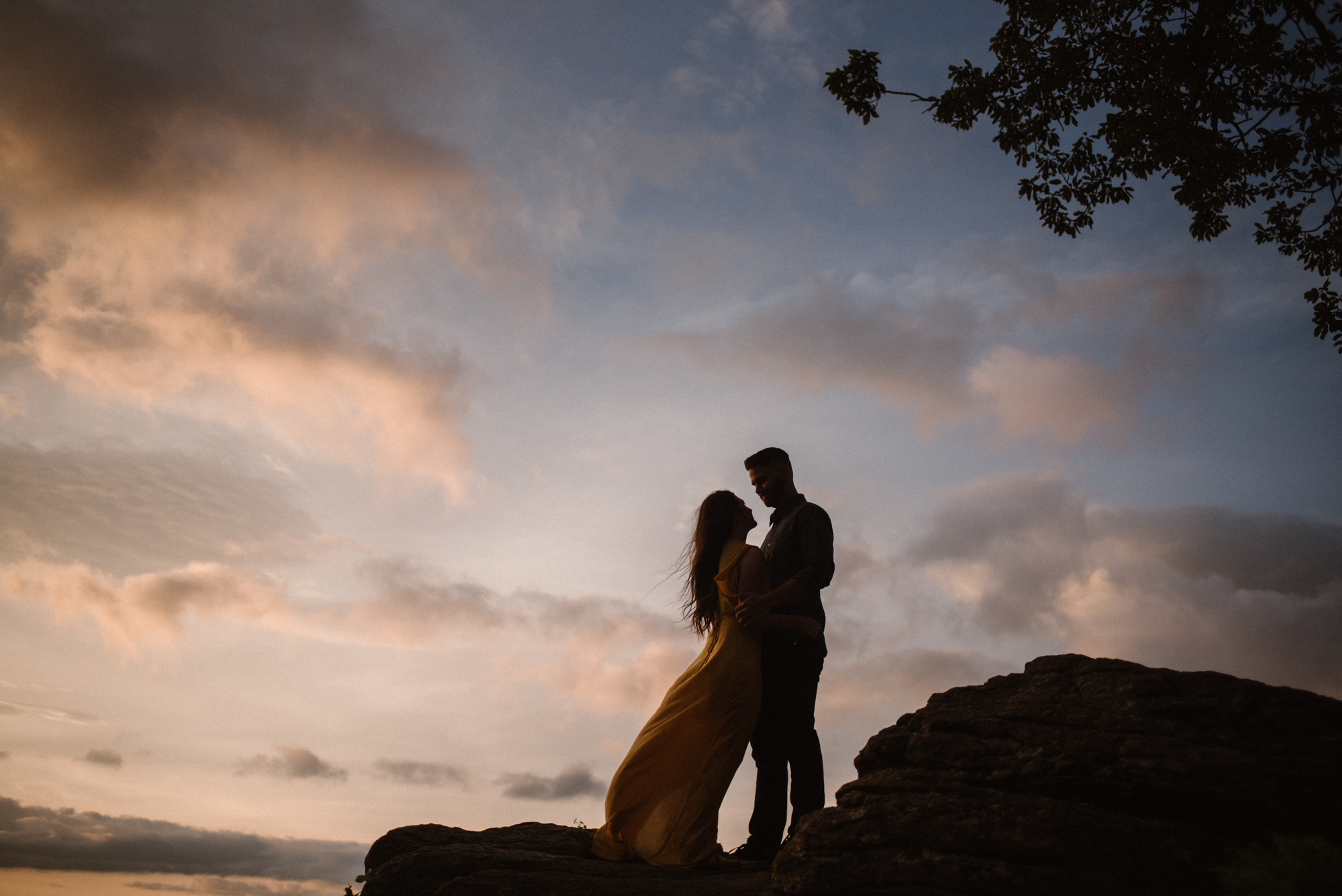 Camryn and Larry Sunrise Engagement Session in Shenandoah National Park - Things to Do in Luray Virginia - Adventurous Couple Photo Shoot White Sails Creative_10.jpg