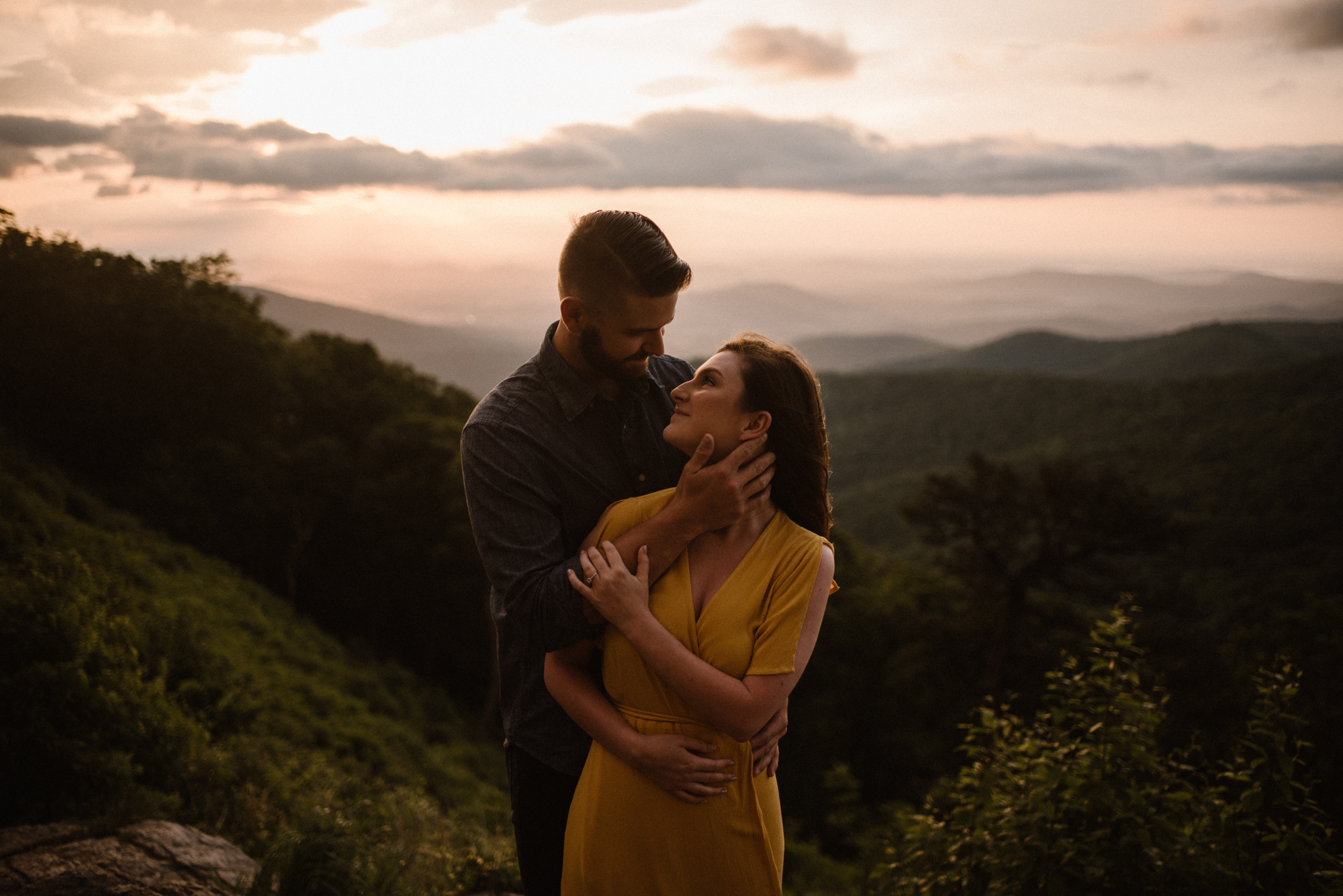 Camryn and Larry Sunrise Engagement Session in Shenandoah National Park - Things to Do in Luray Virginia - Adventurous Couple Photo Shoot White Sails Creative_9.jpg