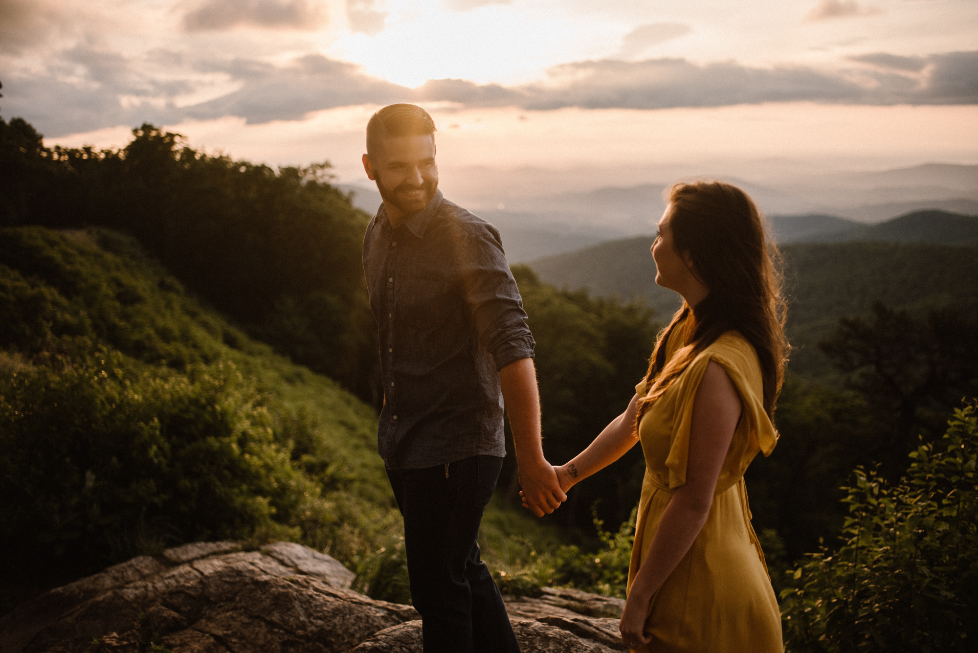 Camryn and Larry Sunrise Engagement Session in Shenandoah National Park - Things to Do in Luray Virginia - Adventurous Couple Photo Shoot White Sails Creative_12.jpg