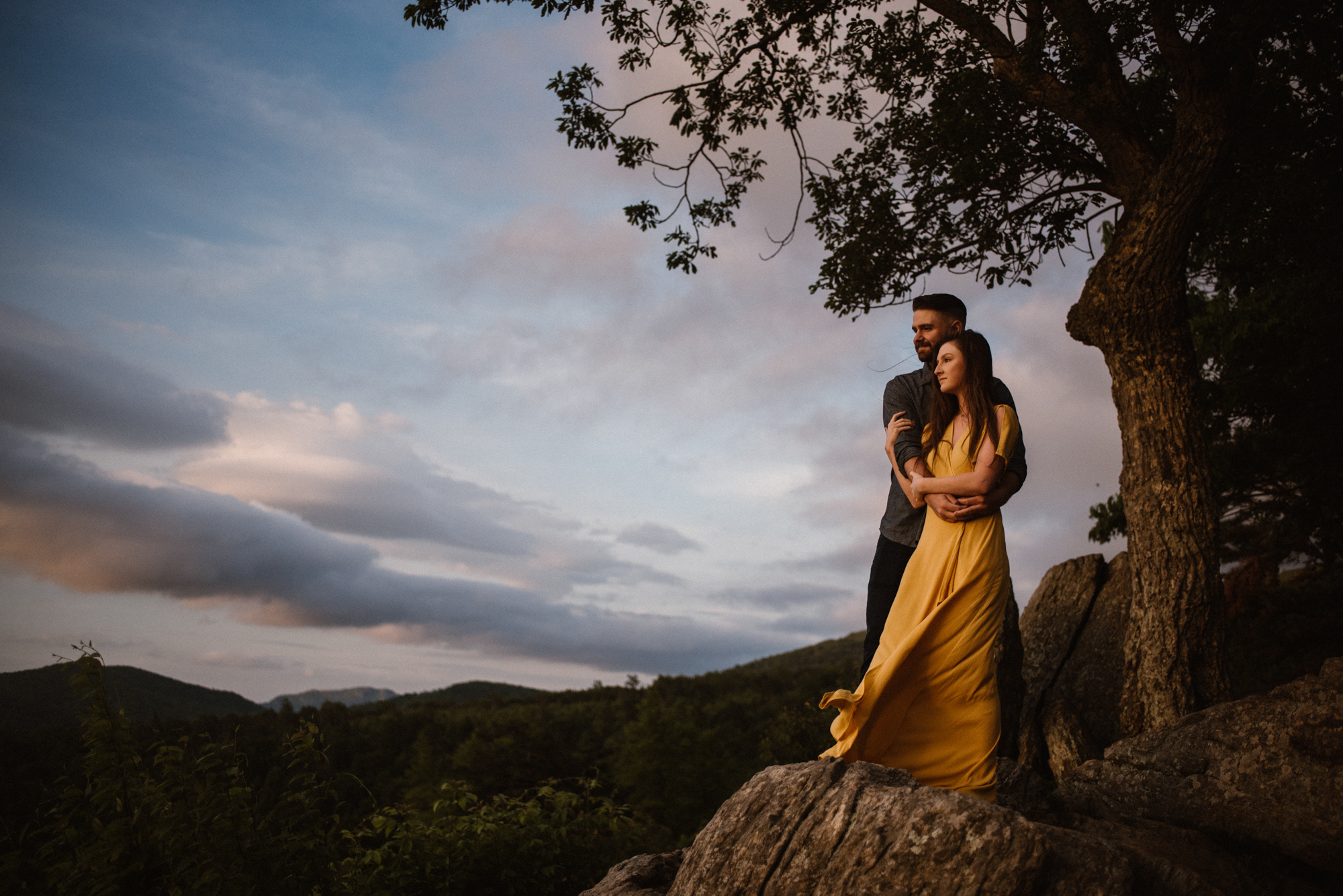 Camryn and Larry Sunrise Engagement Session in Shenandoah National Park - Things to Do in Luray Virginia - Adventurous Couple Photo Shoot White Sails Creative_11.jpg