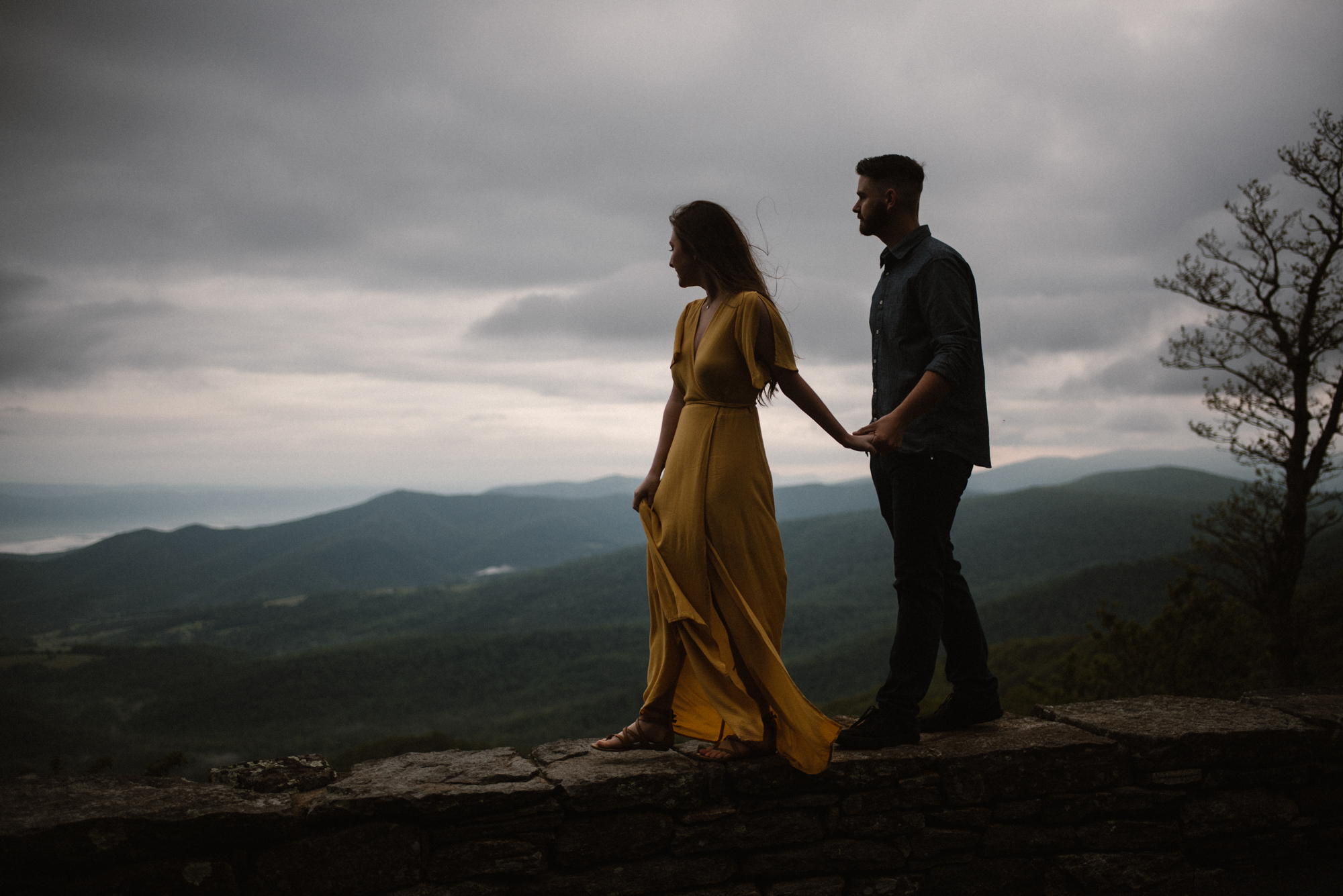 Camryn and Larry Sunrise Engagement Session in Shenandoah National Park - Things to Do in Luray Virginia - Adventurous Couple Photo Shoot White Sails Creative_17.jpg