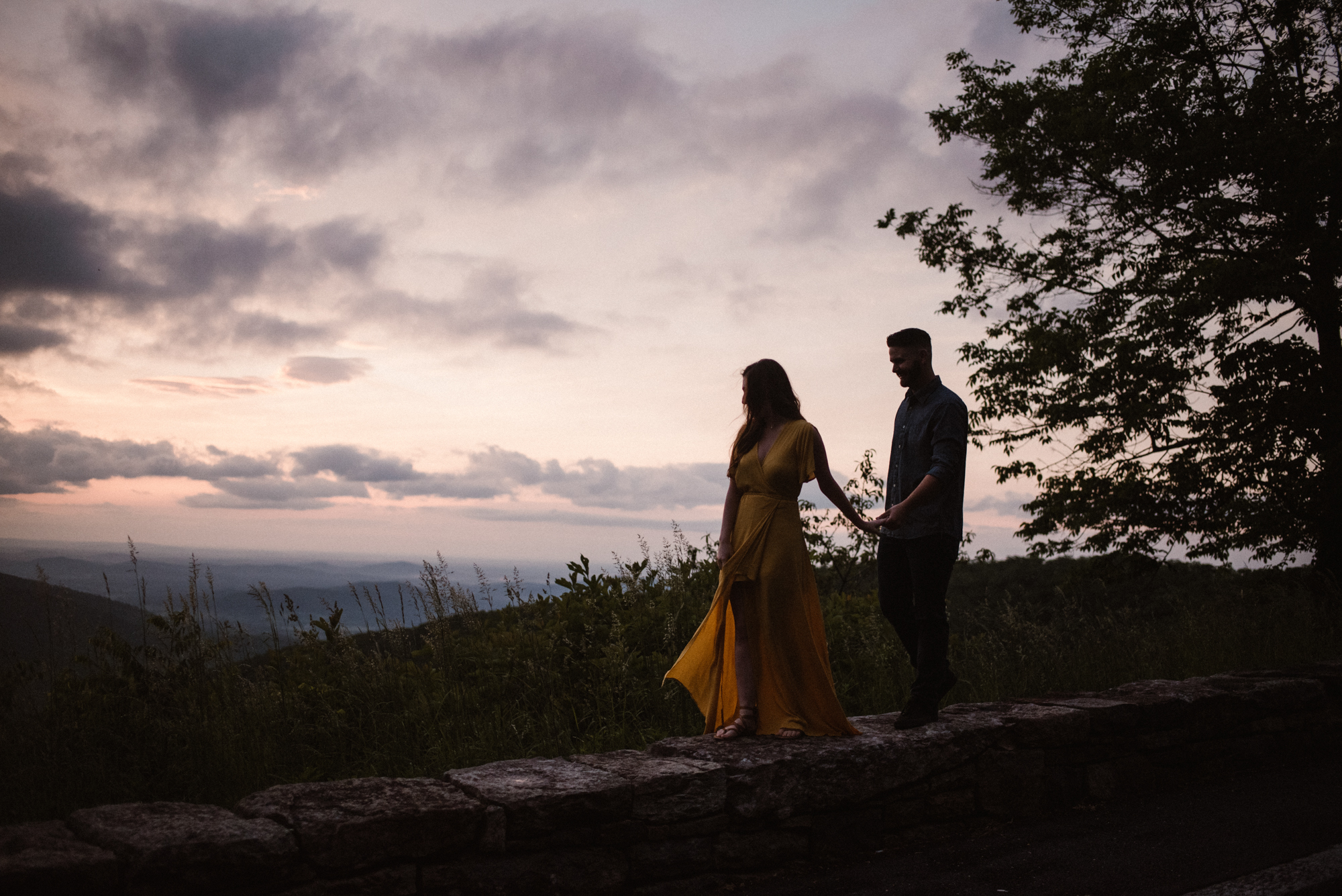 Camryn and Larry Sunrise Engagement Session in Shenandoah National Park - Things to Do in Luray Virginia - Adventurous Couple Photo Shoot White Sails Creative.jpg