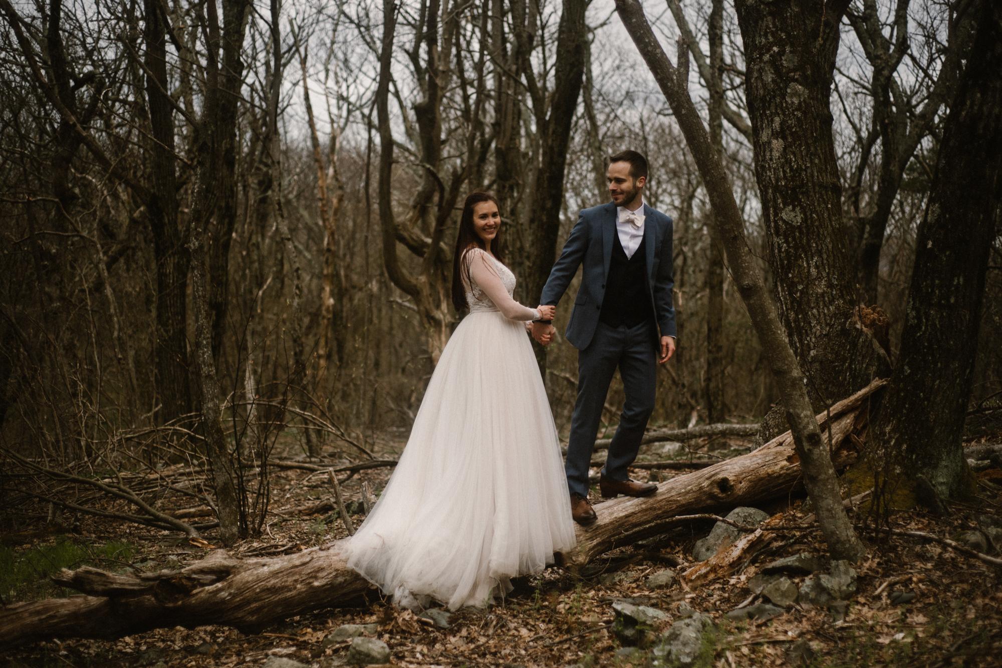 Paula and Andrew - Small Adventurous Wedding in Shenandoah National Park - Blue Ridge Mountain Wedding - White Sails Creative - Mountain Elopement_44.jpg