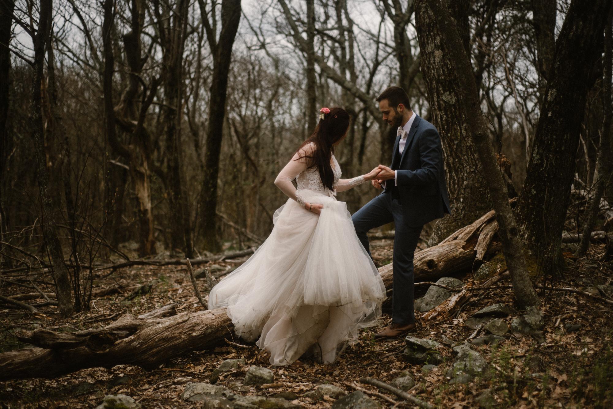 Paula and Andrew - Small Adventurous Wedding in Shenandoah National Park - Blue Ridge Mountain Wedding - White Sails Creative - Mountain Elopement_45.jpg