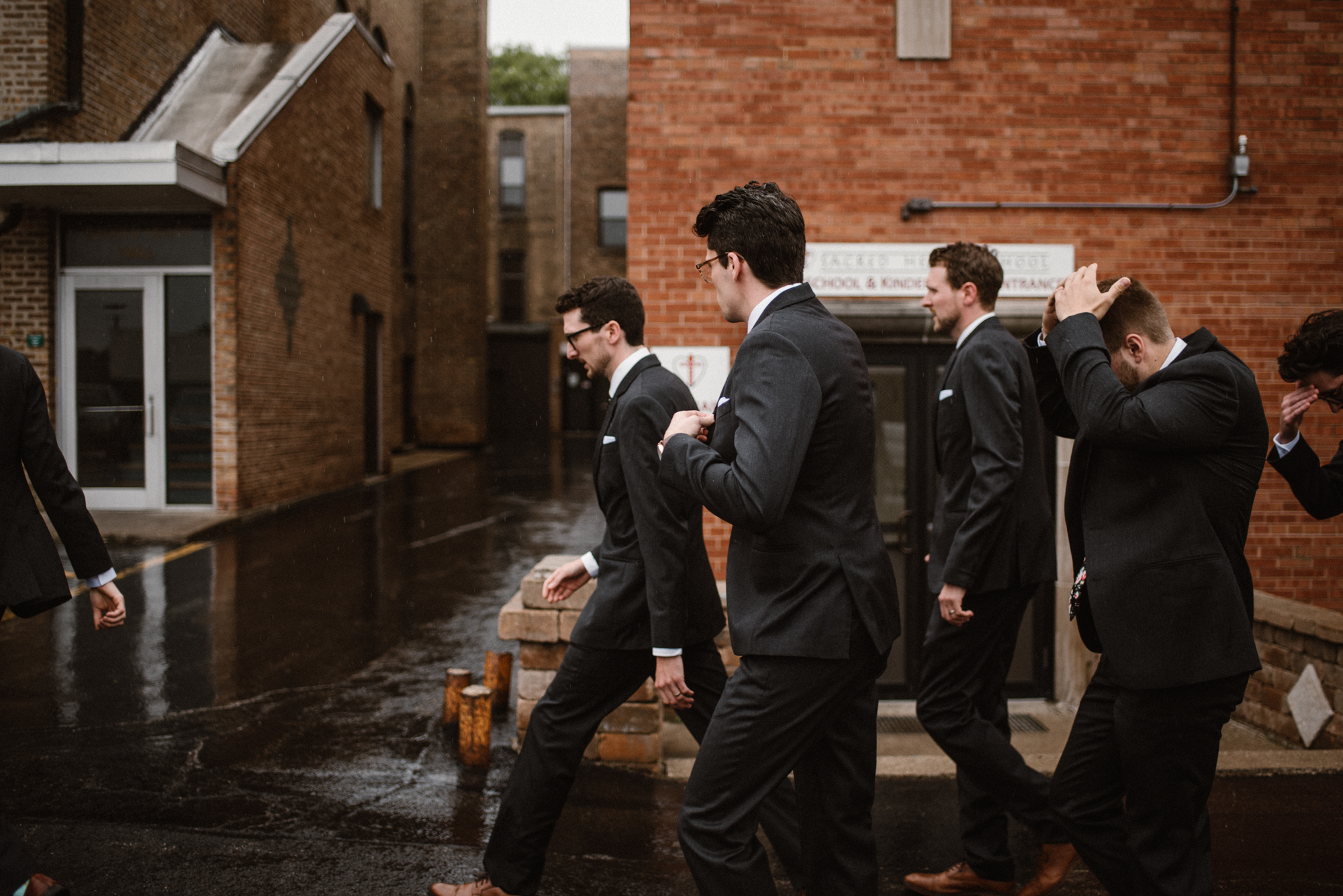 Mairi and Jude - Rainy Backyard Wedding - Intimate Wedding - Fun Reception Photos - Chicago Wedding Photographer - Catholic Wedding - White Sails Creative - Virginia Backyard Wedding Photographer_14.jpg