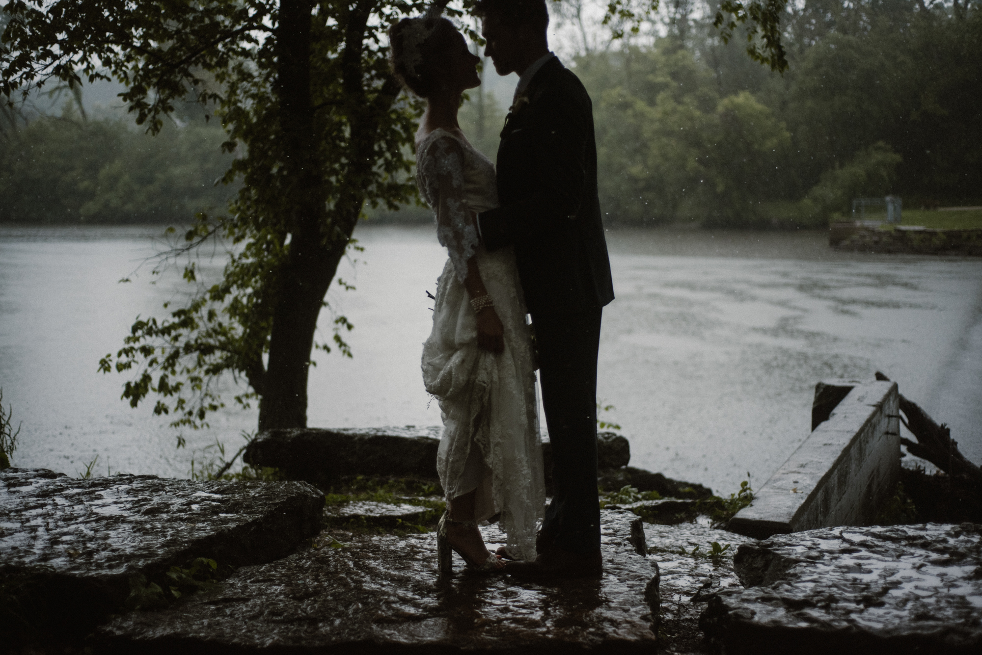 Mairi and Jude - Rainy Backyard Wedding - Intimate Wedding - Fun Reception Photos - Chicago Wedding Photographer - Catholic Wedding - White Sails Creative - Virginia Backyard Wedding Photographer_40.jpg