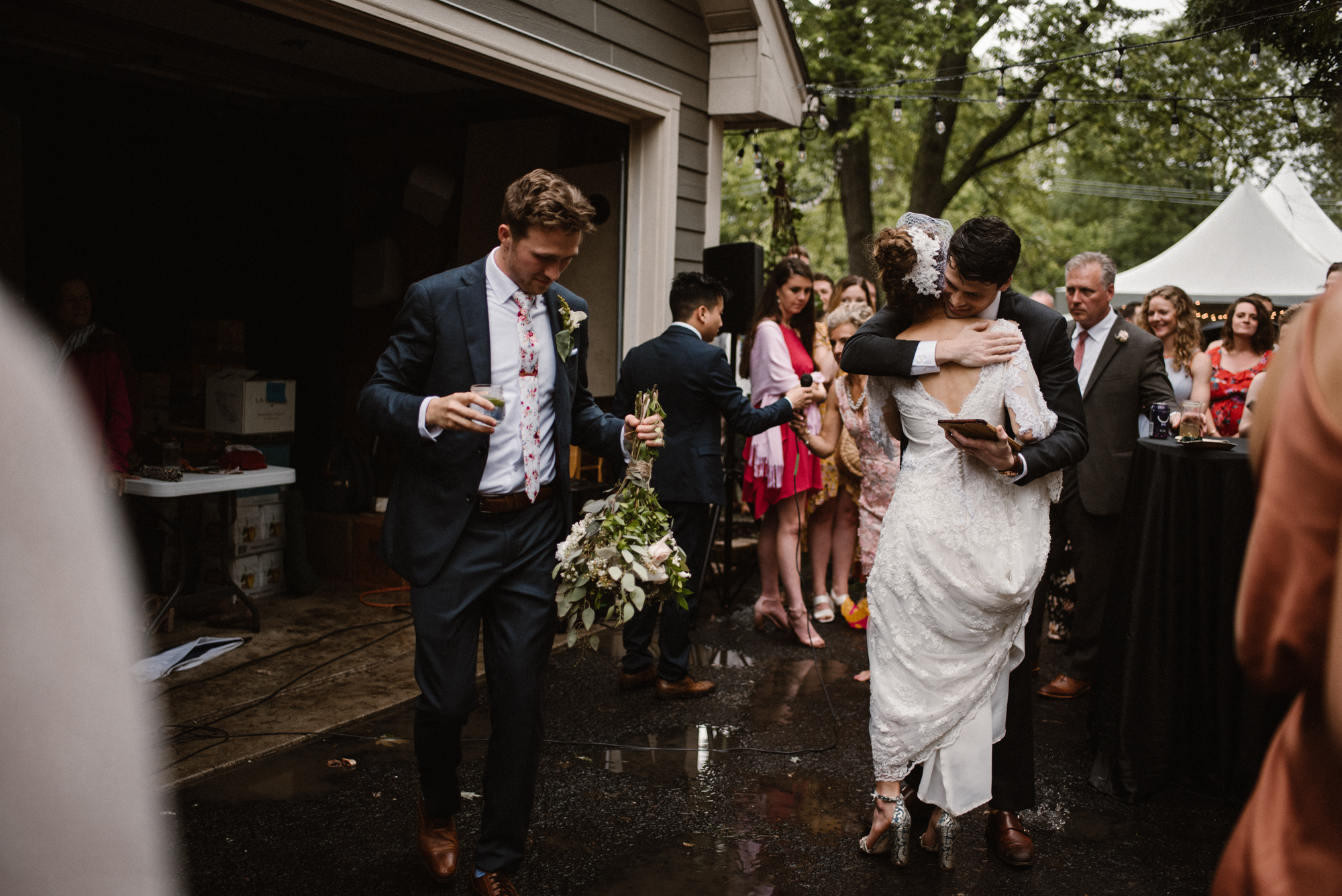 Mairi and Jude - Rainy Backyard Wedding - Intimate Wedding - Fun Reception Photos - Chicago Wedding Photographer - Catholic Wedding - White Sails Creative - Virginia Backyard Wedding Photographer_53.jpg