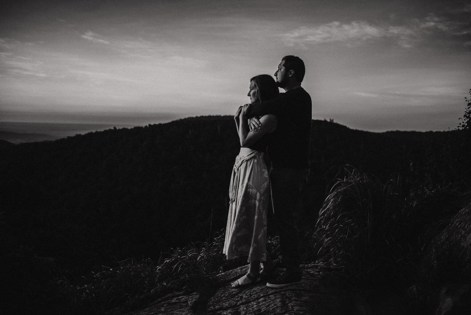 Shenandoah National Park Engagement Session - Sunrise Mountain Couple Photo Shoot - Blue Ridge Mountain Photo Shoot - Shenandoah National Park Photographer - White Sails Creative _2.jpg