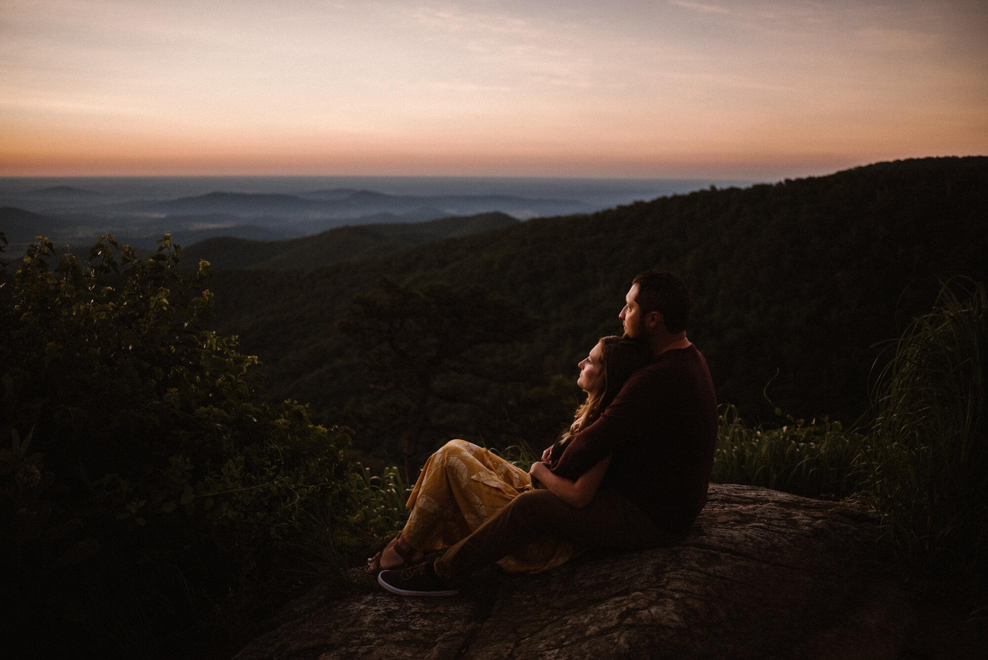 Shenandoah National Park Engagement Session - Sunrise Mountain Couple Photo Shoot - Blue Ridge Mountain Photo Shoot - Shenandoah National Park Photographer - White Sails Creative _3.jpg
